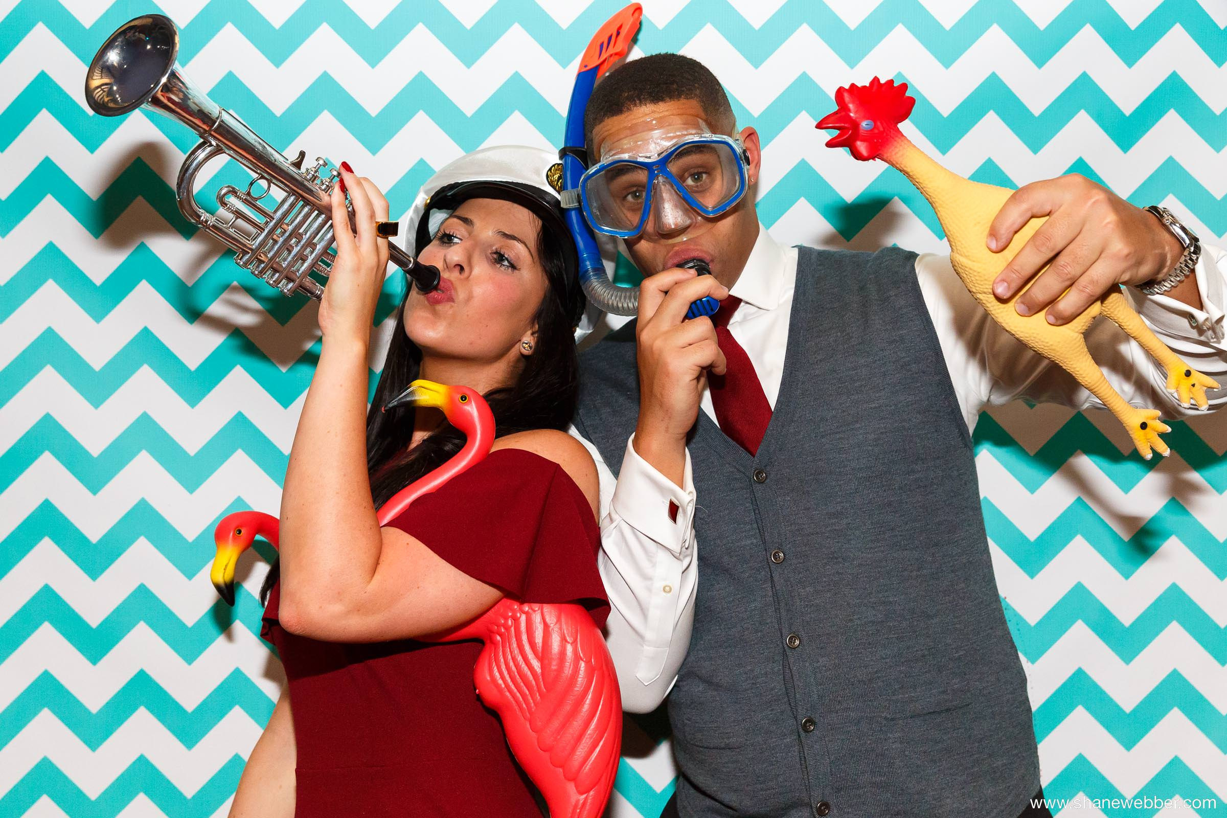 Funny photobooth at wedding