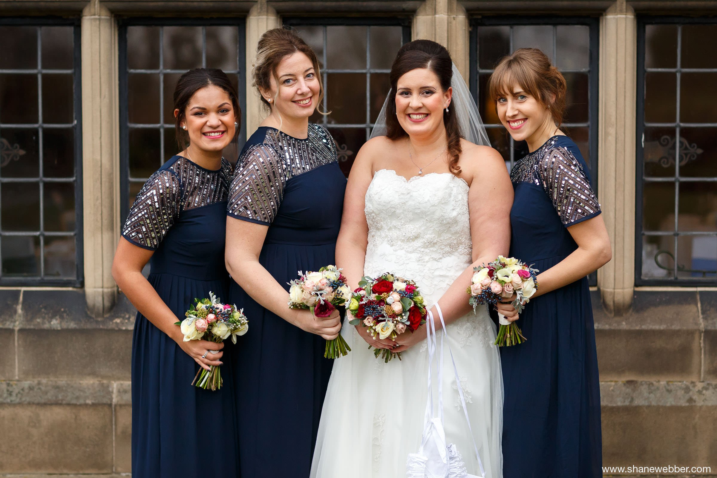 image of bride and bridesmaids
