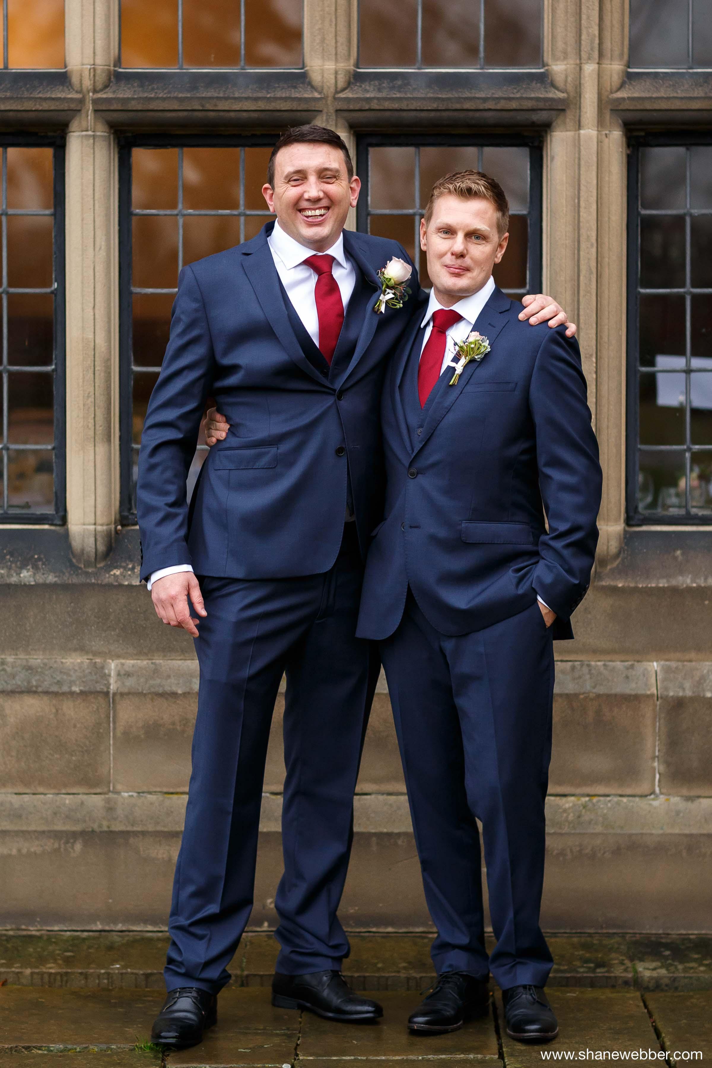 Groomsmen photo at wedding