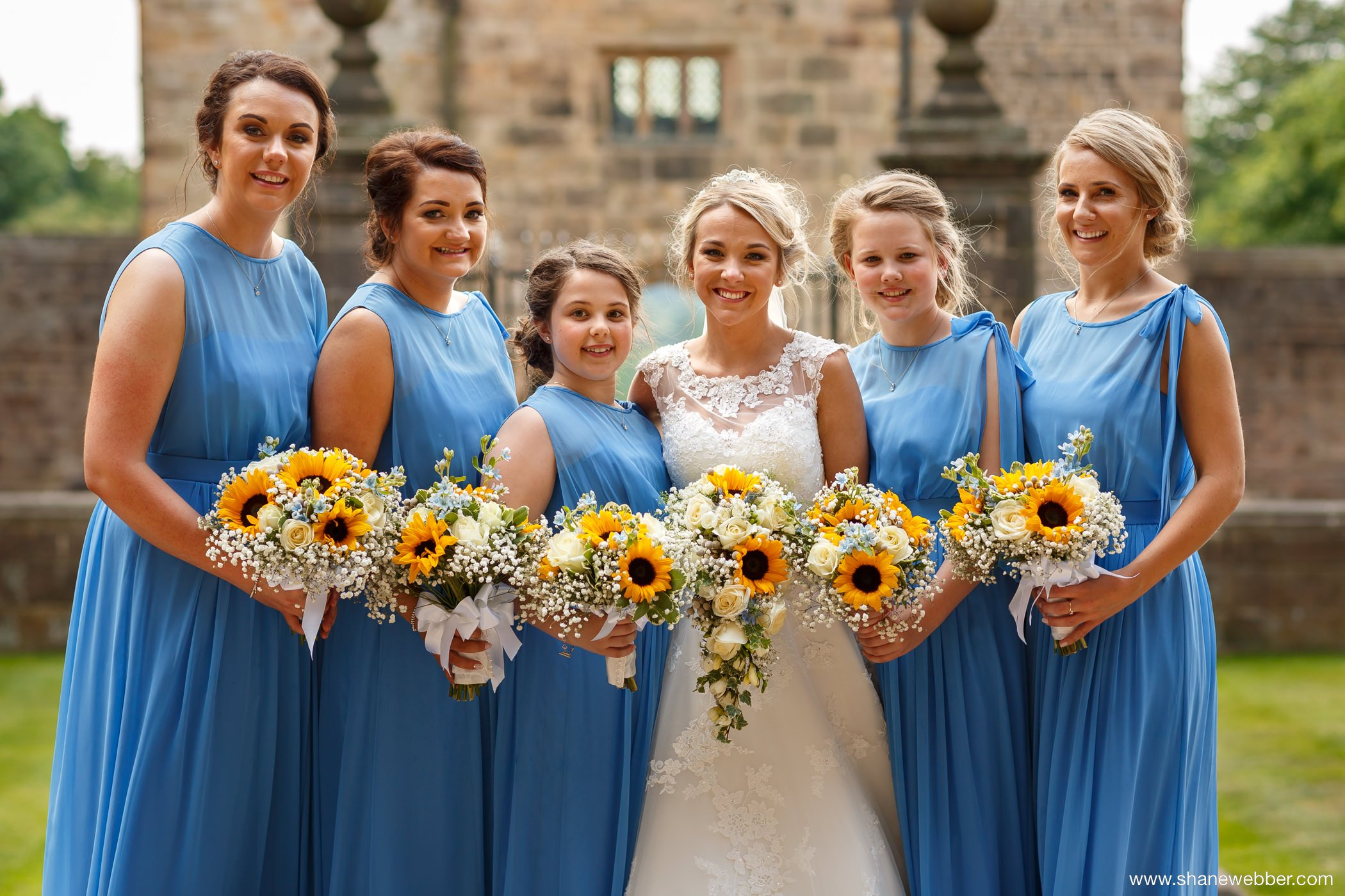 Wedding pictures at Hoghton Tower