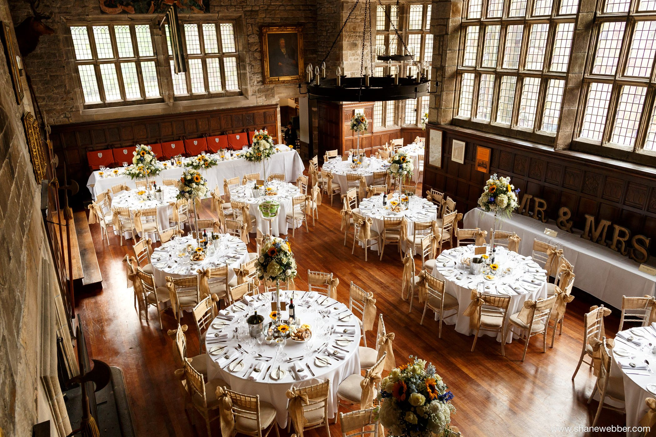 Hoghton Tower wedding photograph