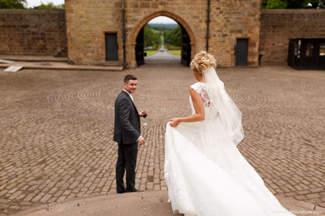 Hoghton Tower wedding photo