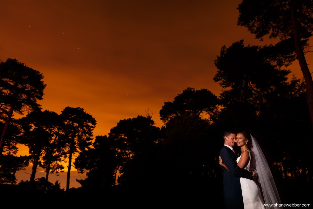Night time wedding picture