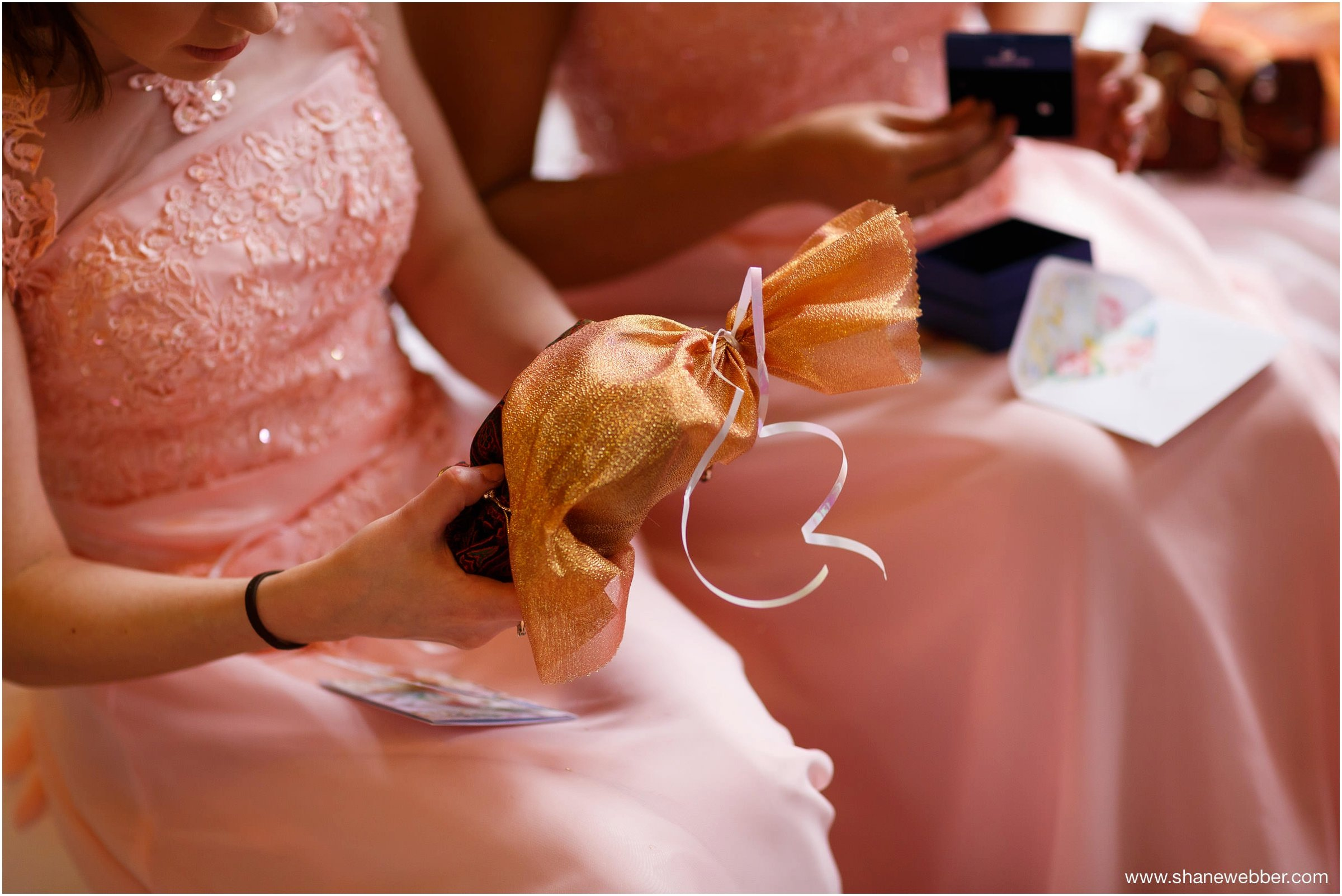 Photograph of presents for bridesmaids