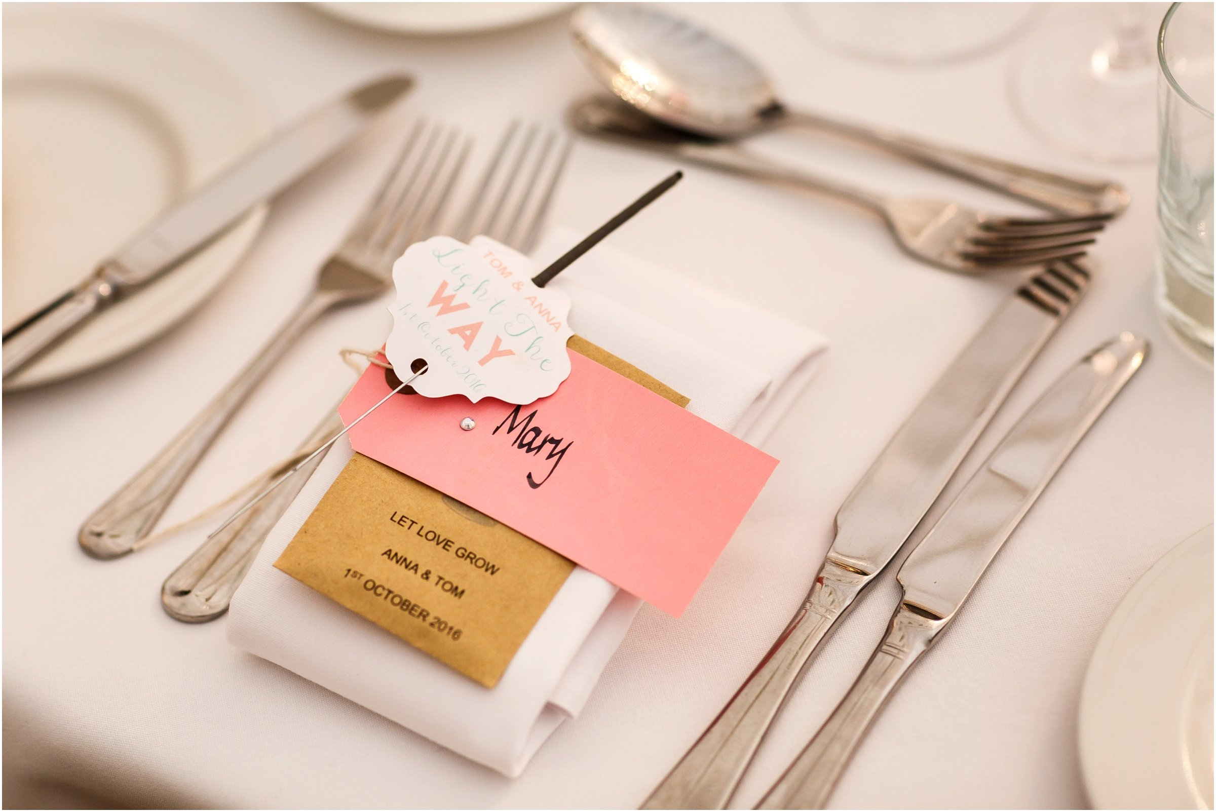 Photograph of wedding favours