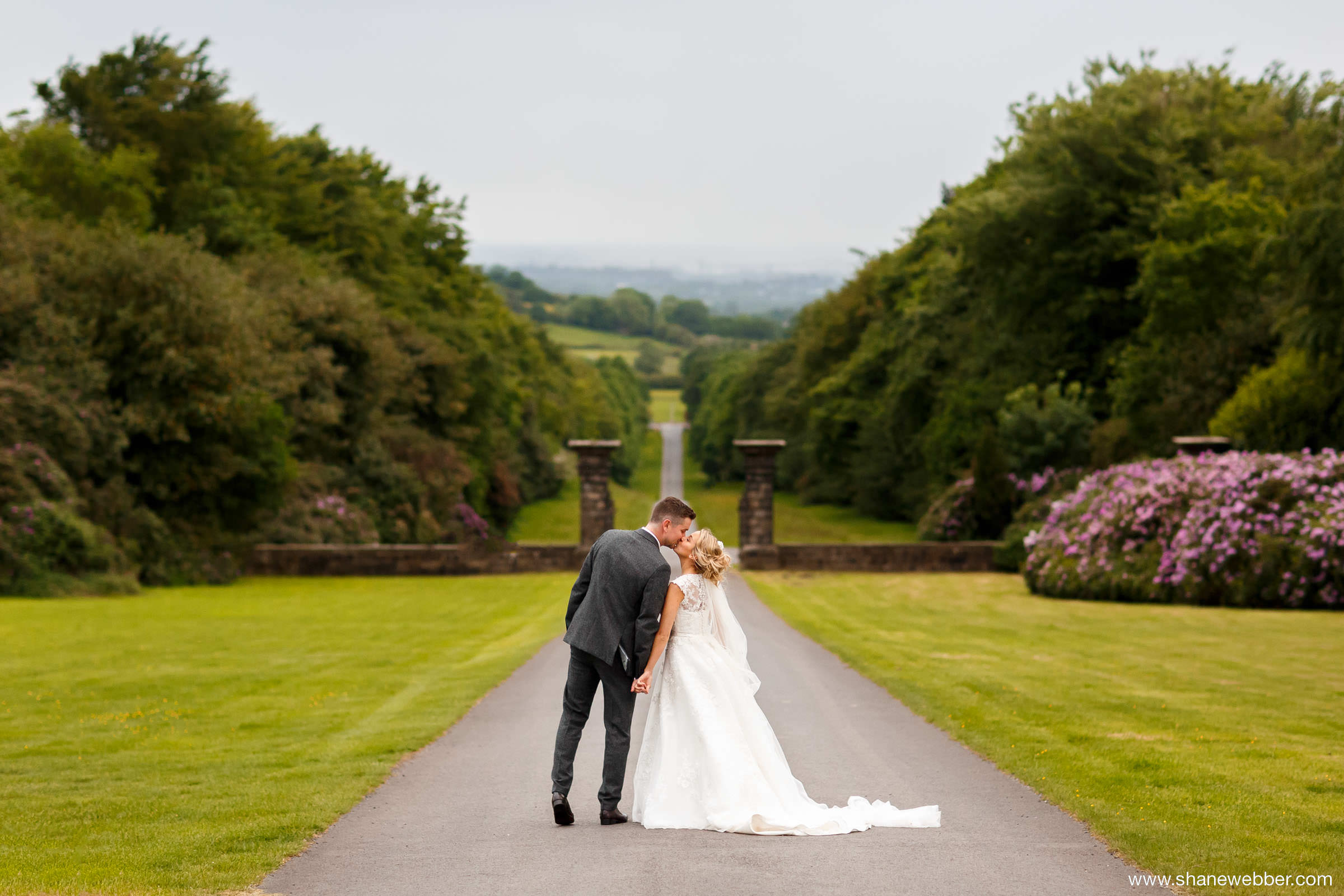 Hoghton Tower summer wedding photo