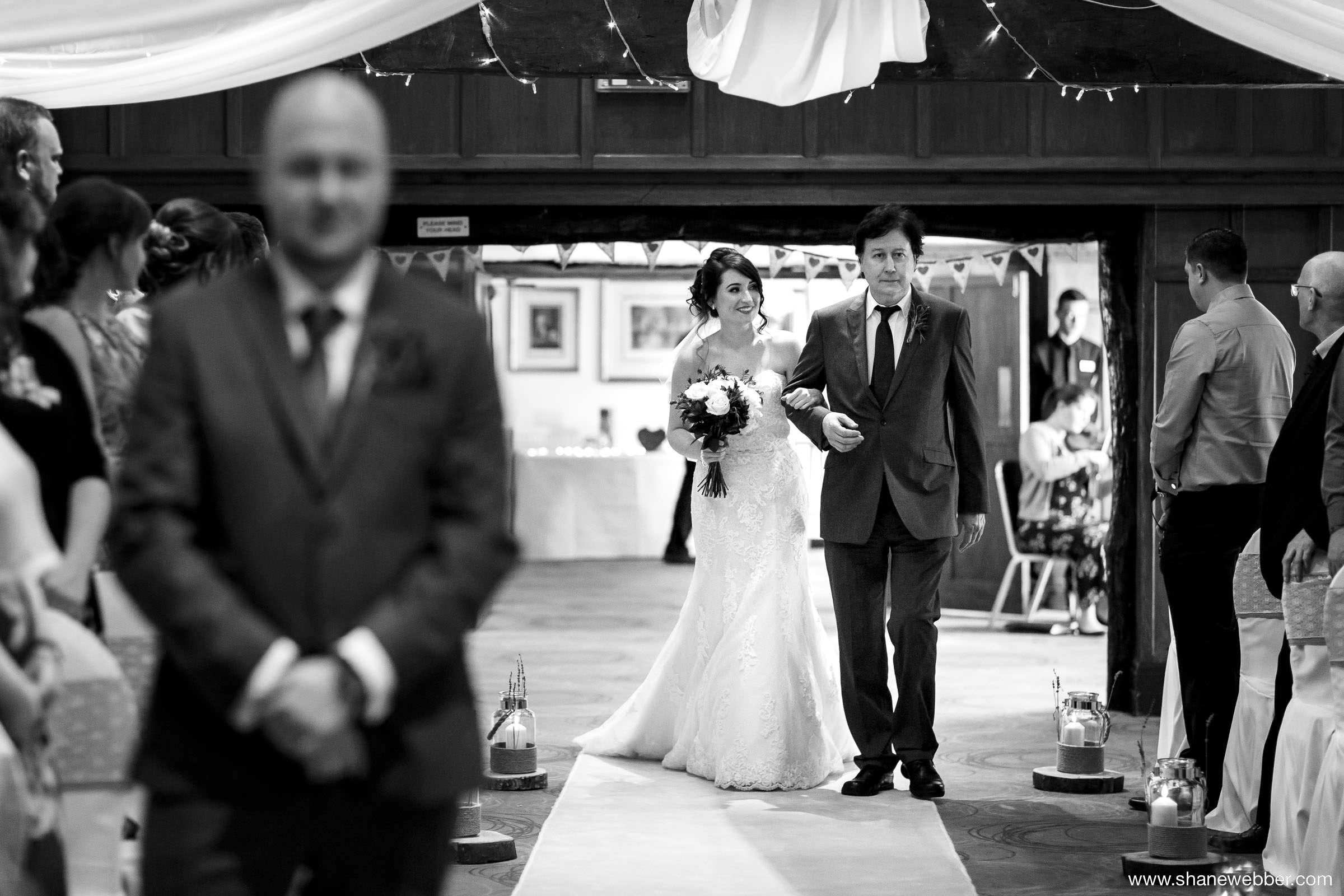 Bride walking down the aisle picture