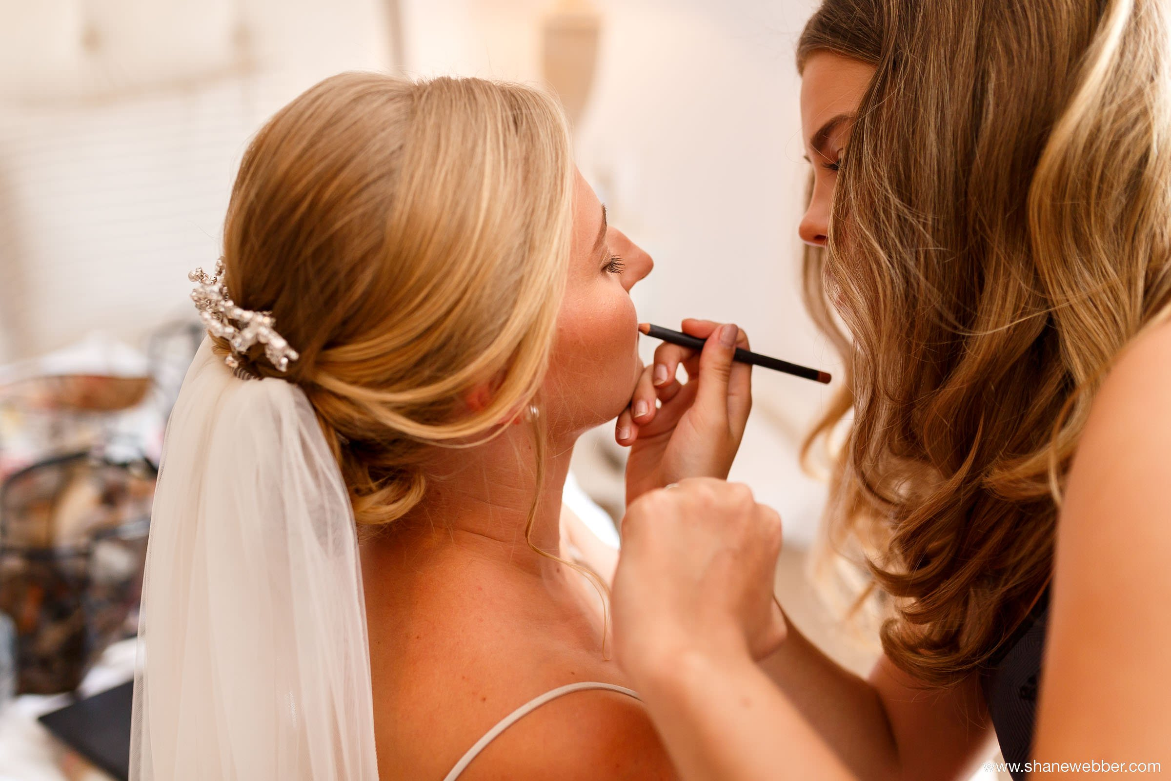 Bridal preparation wedding photography
