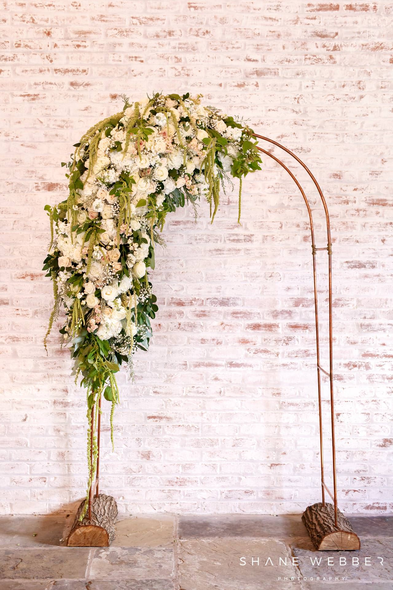 red floral flower arch