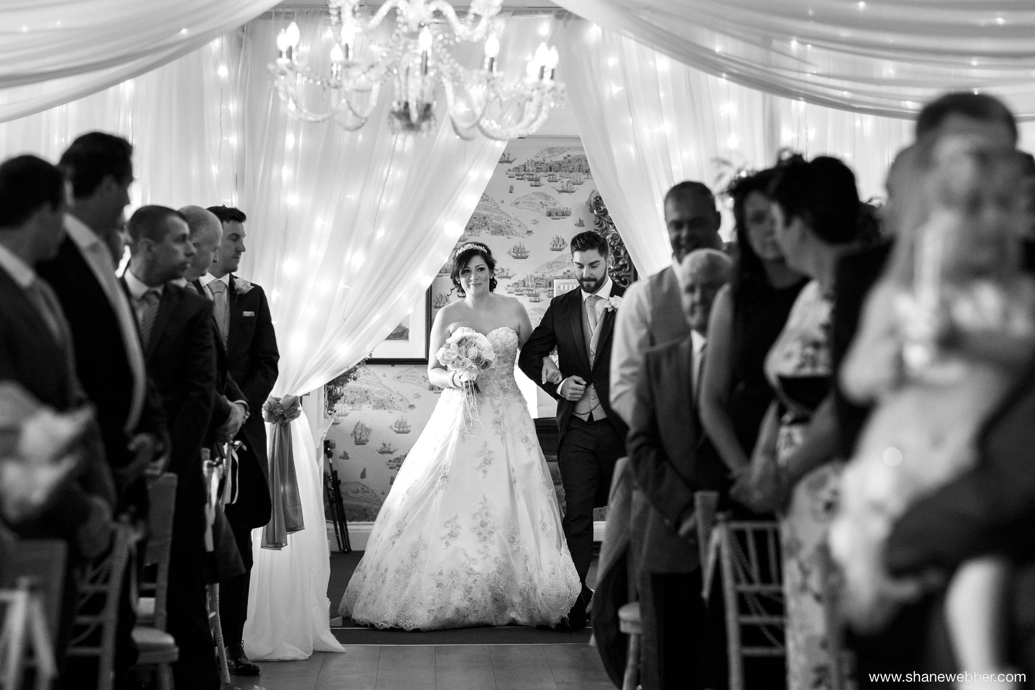 Eaves Hall wedding photograph