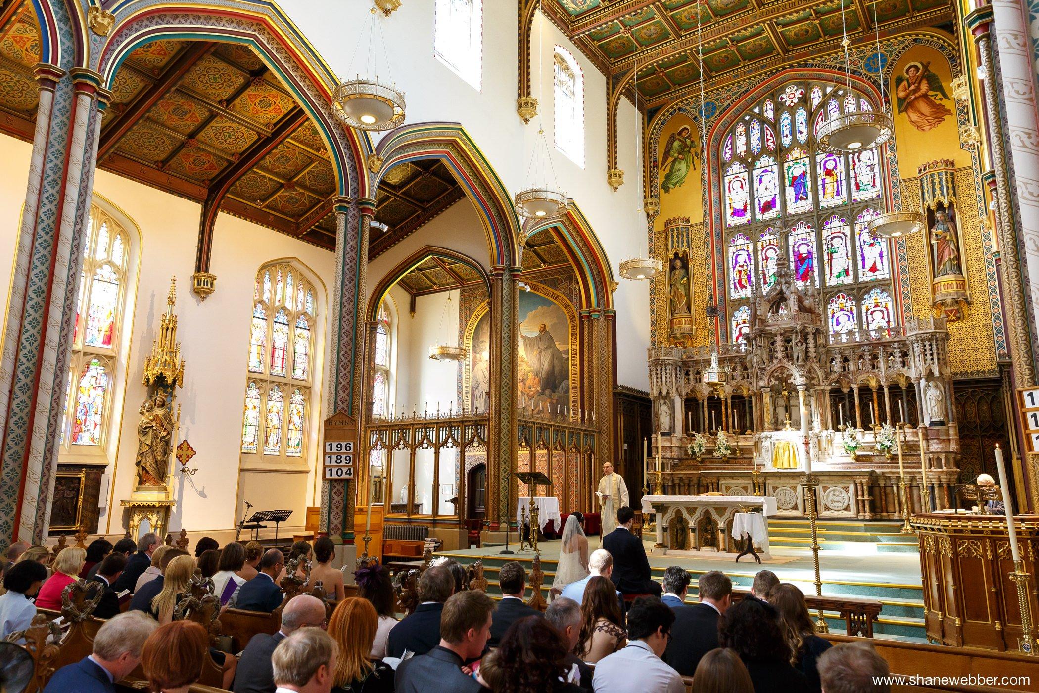 Traditional church wedding