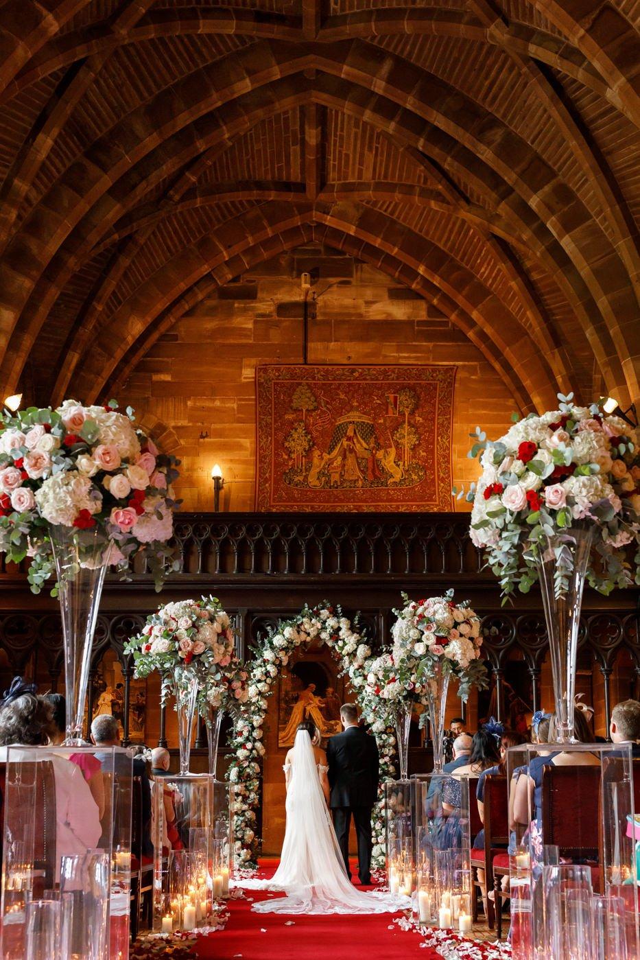 ceremony Peckforton Castle Cheshire