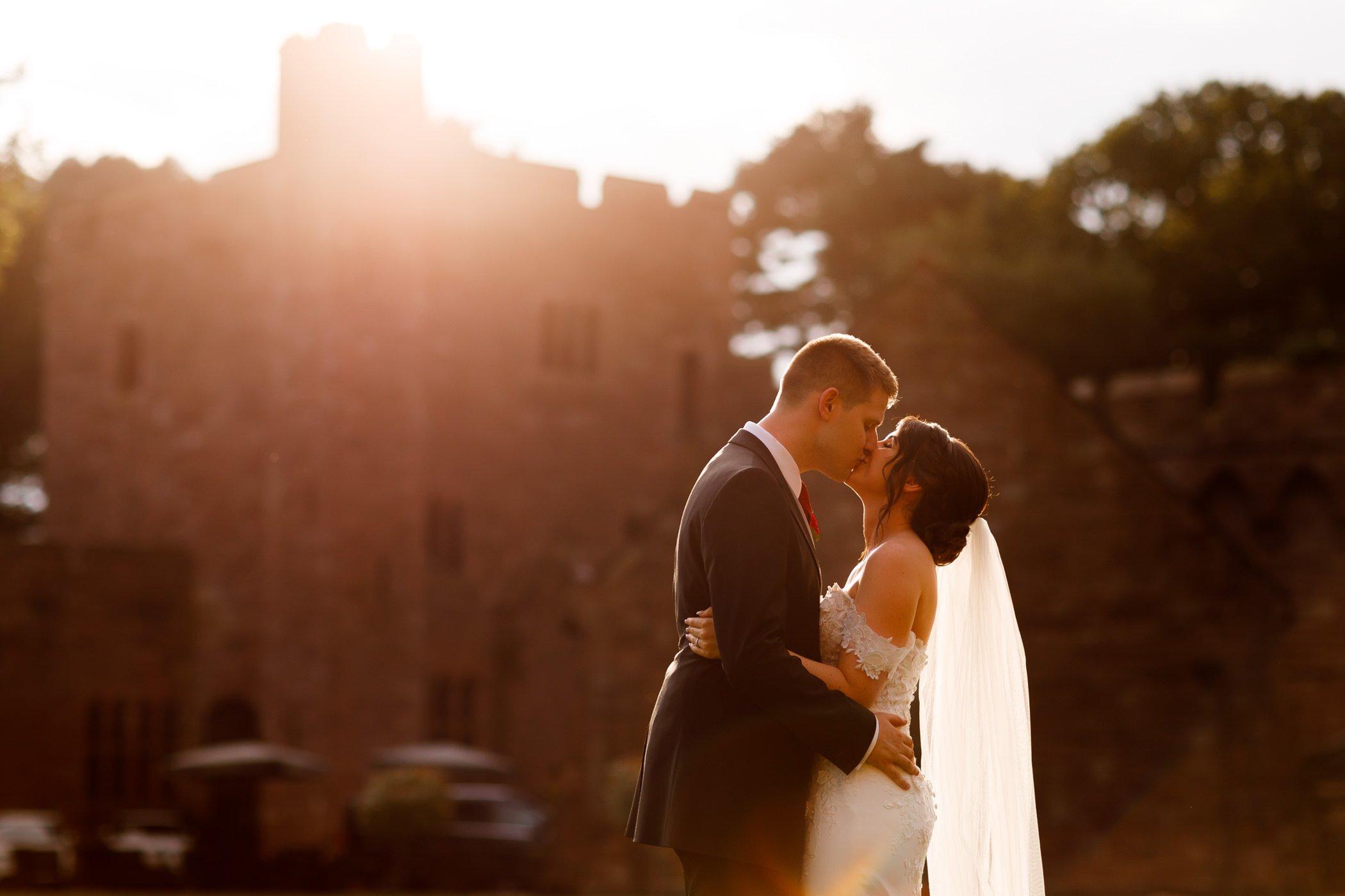 summer wedding photography Peckforton Castle