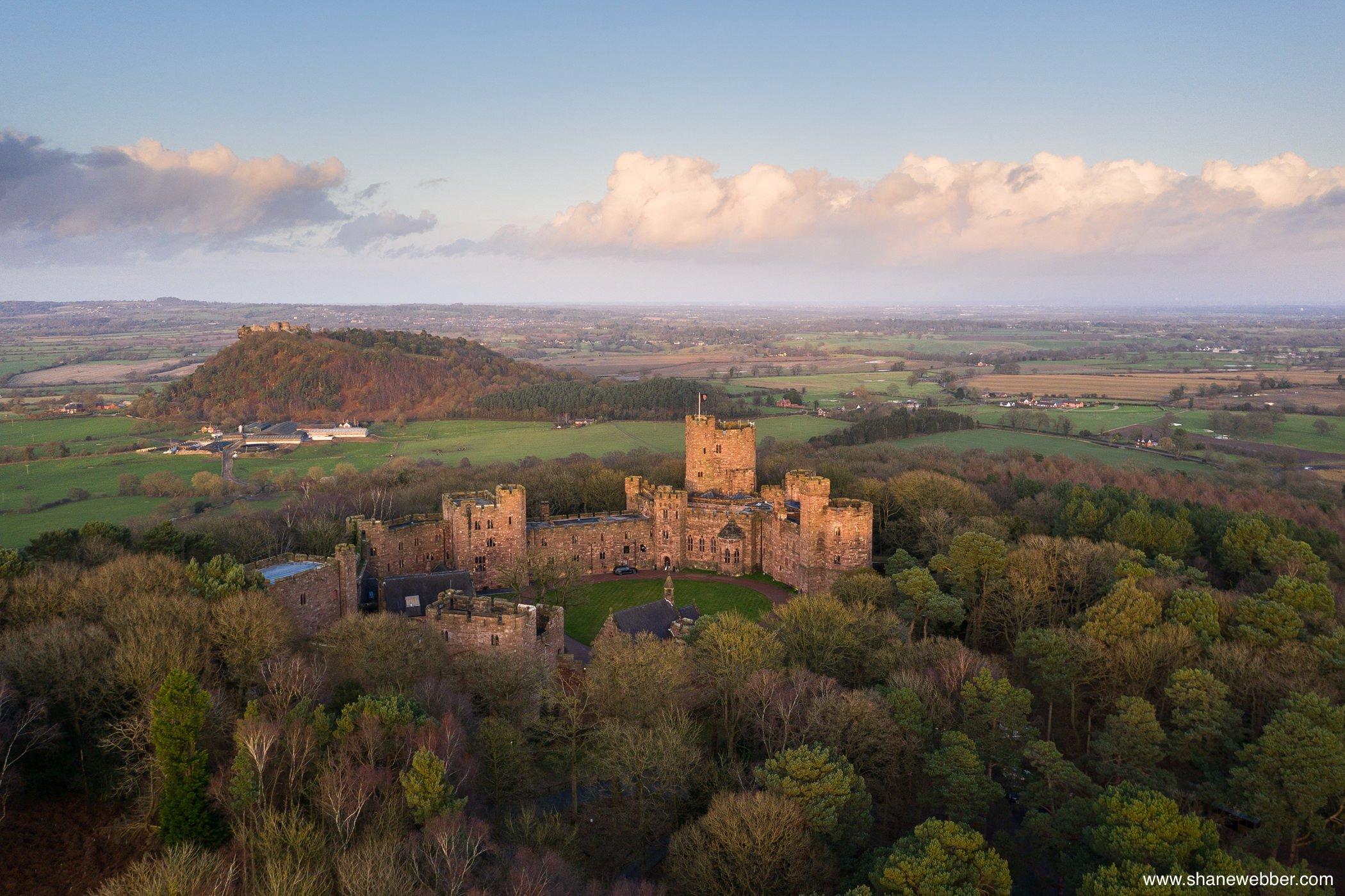 peckforton castle ariel photo