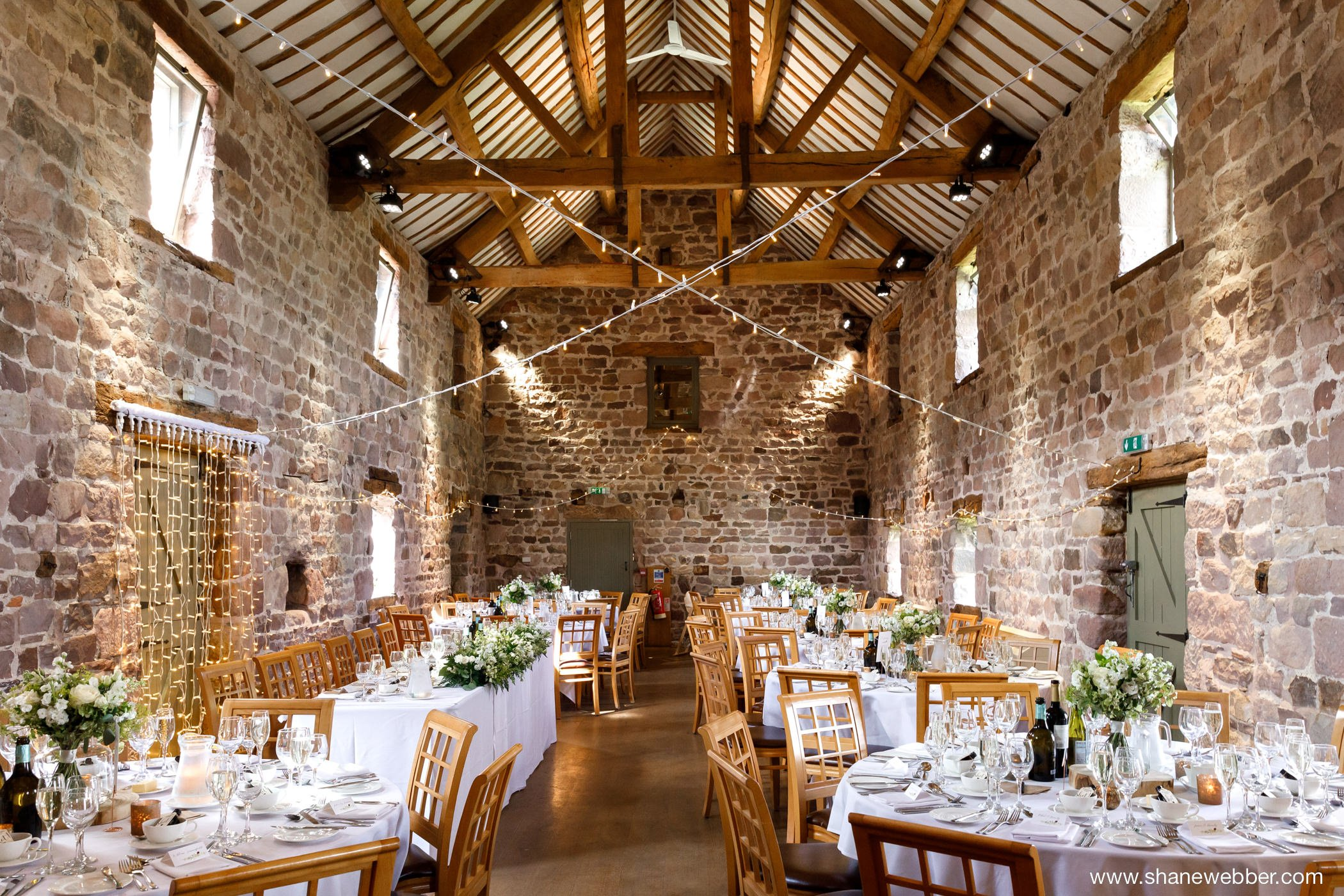 ashes barns wedding reception room