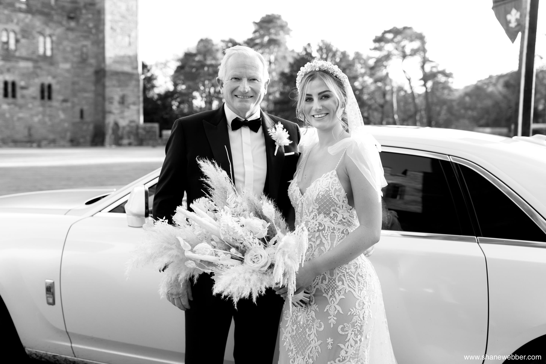 Luxury wedding ceremony at Peckforton Castle