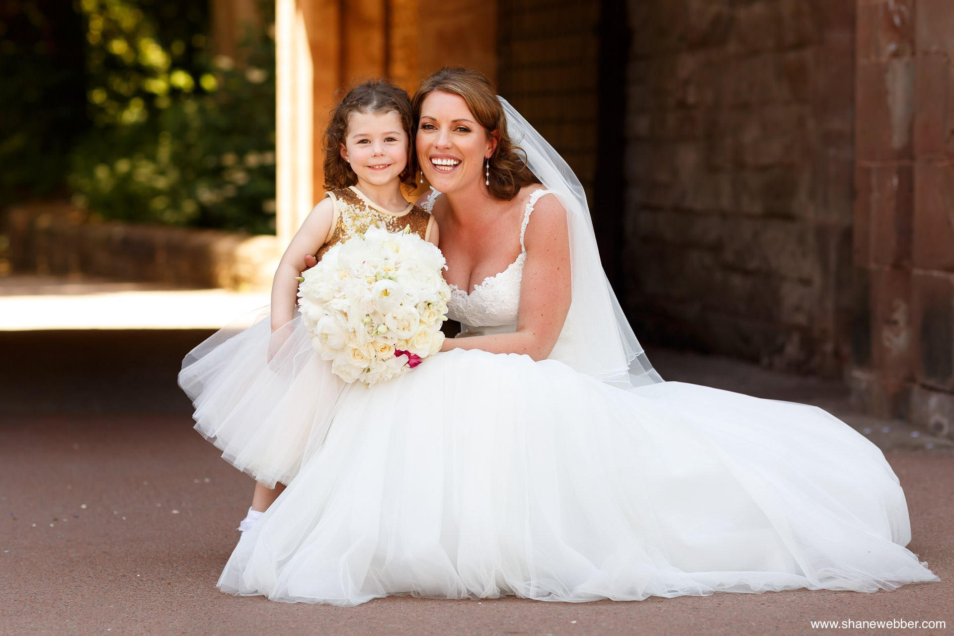 Peckforton Castle wedding portrait