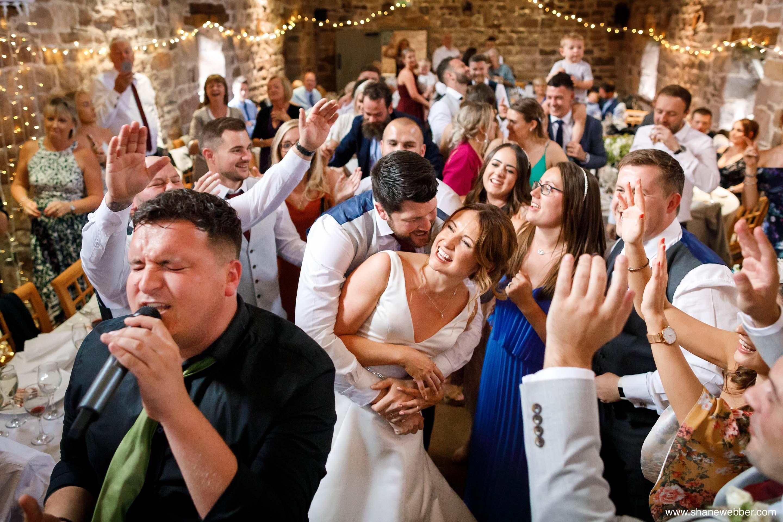 wedding reception the ashes barns