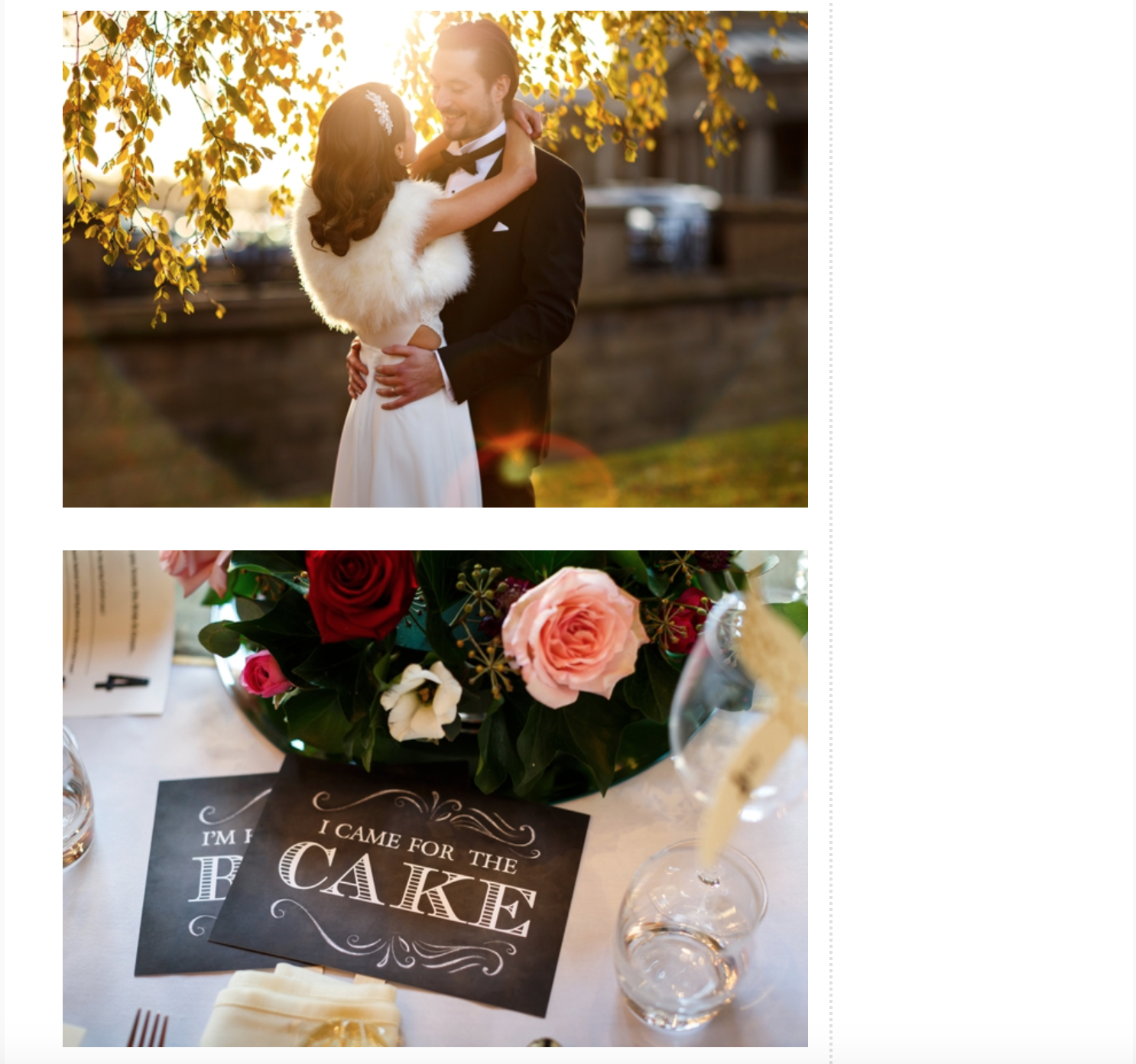 english wedding blog feature
