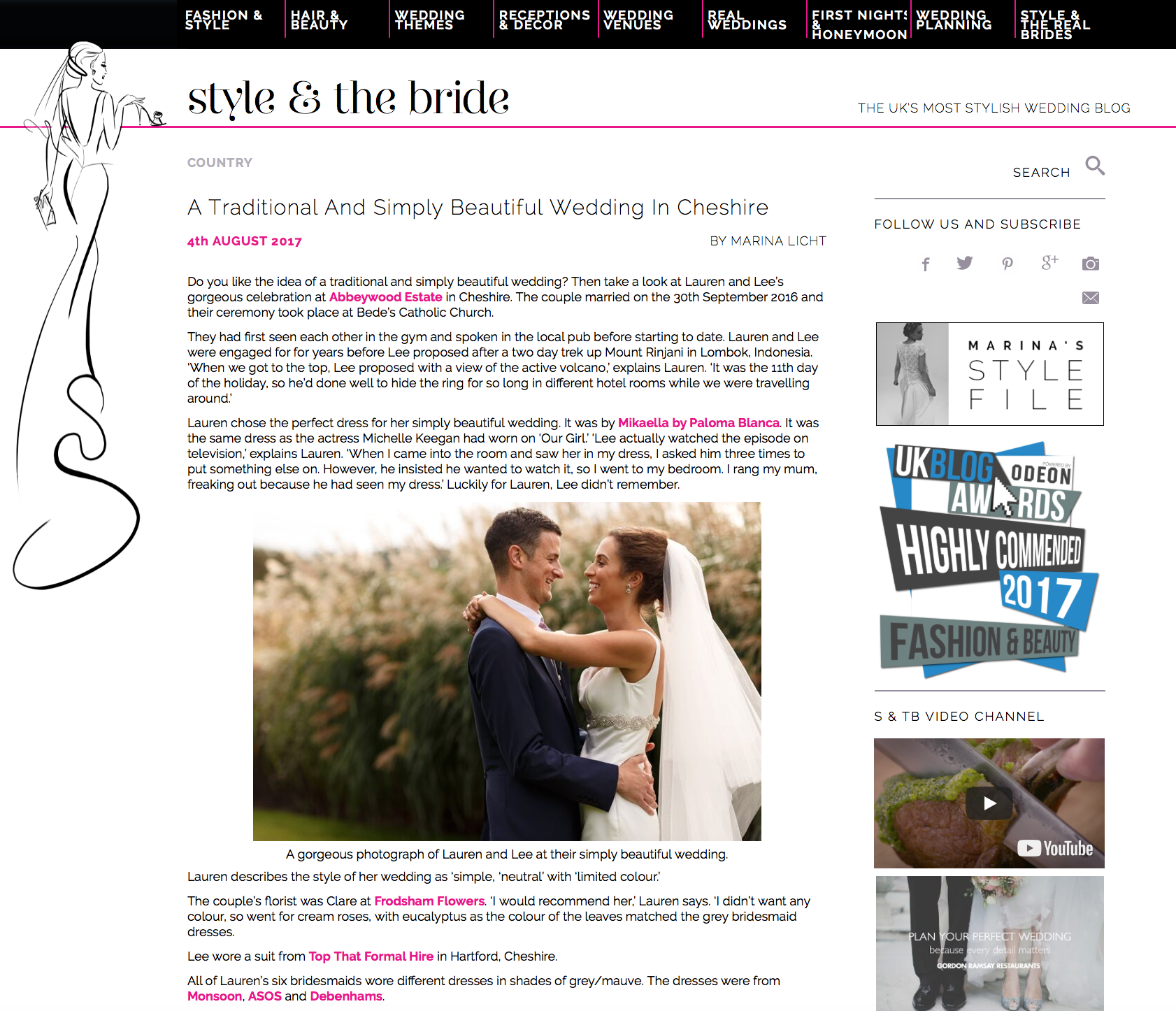 Style and the bride feature
