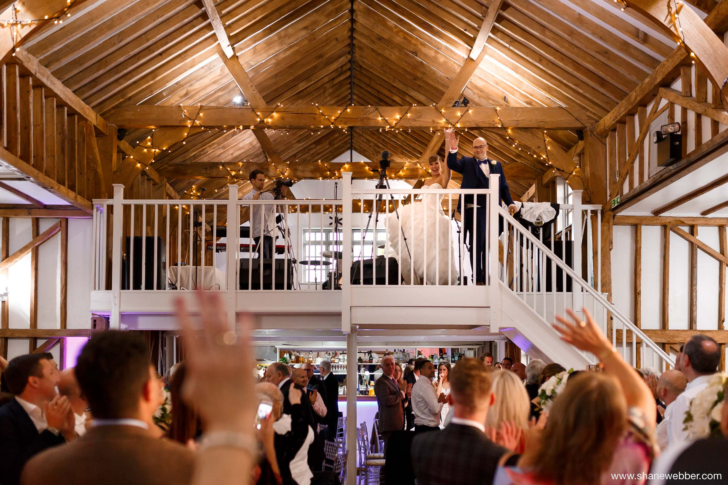 Milling barn wedding reception