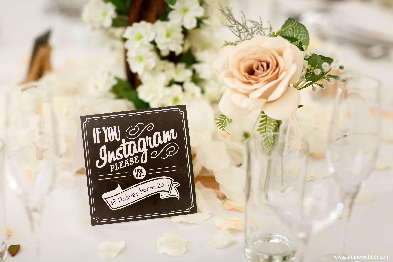 wedding instagram sign