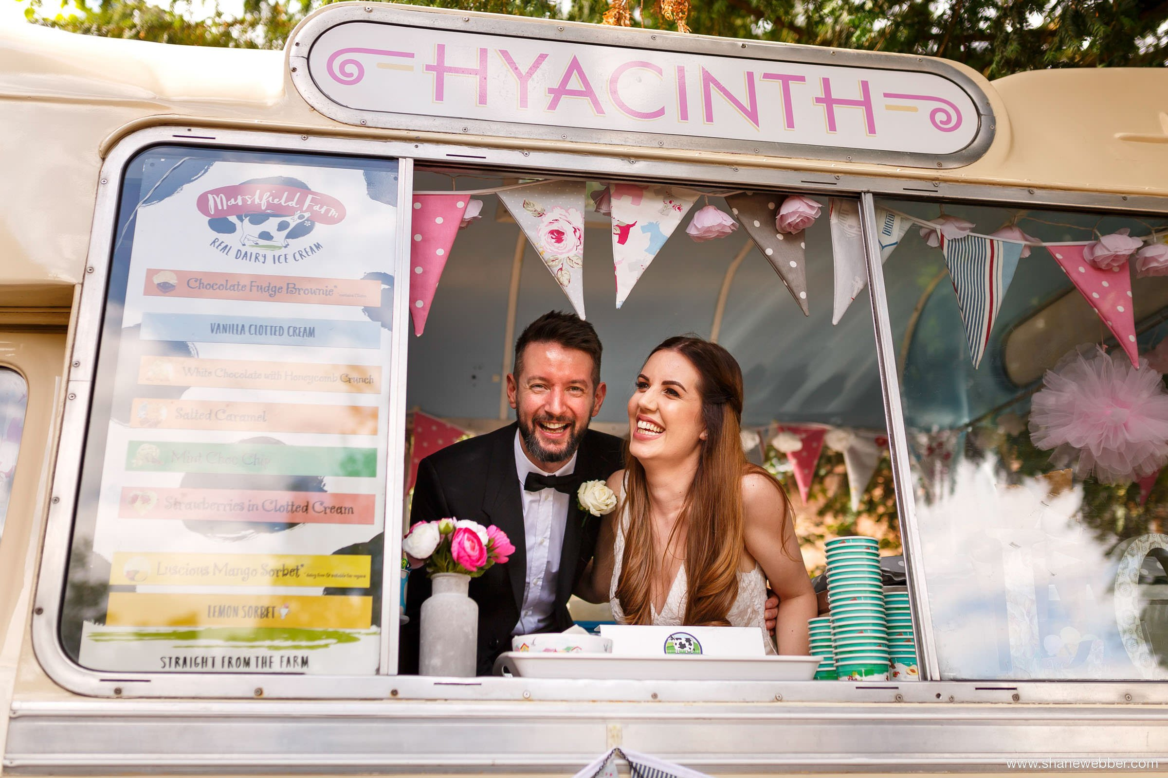 hyacinth wedding ice cream
