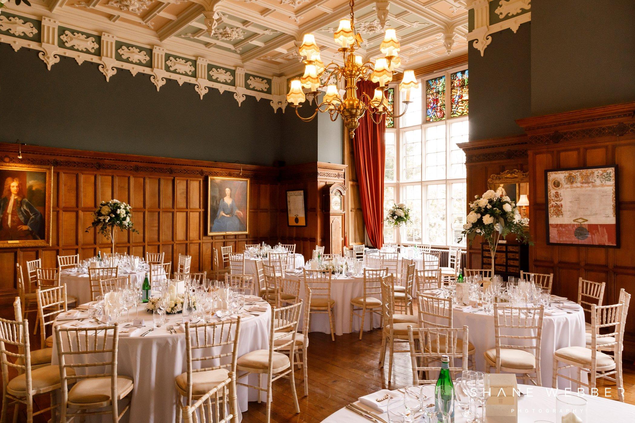 arley hall wedding reception