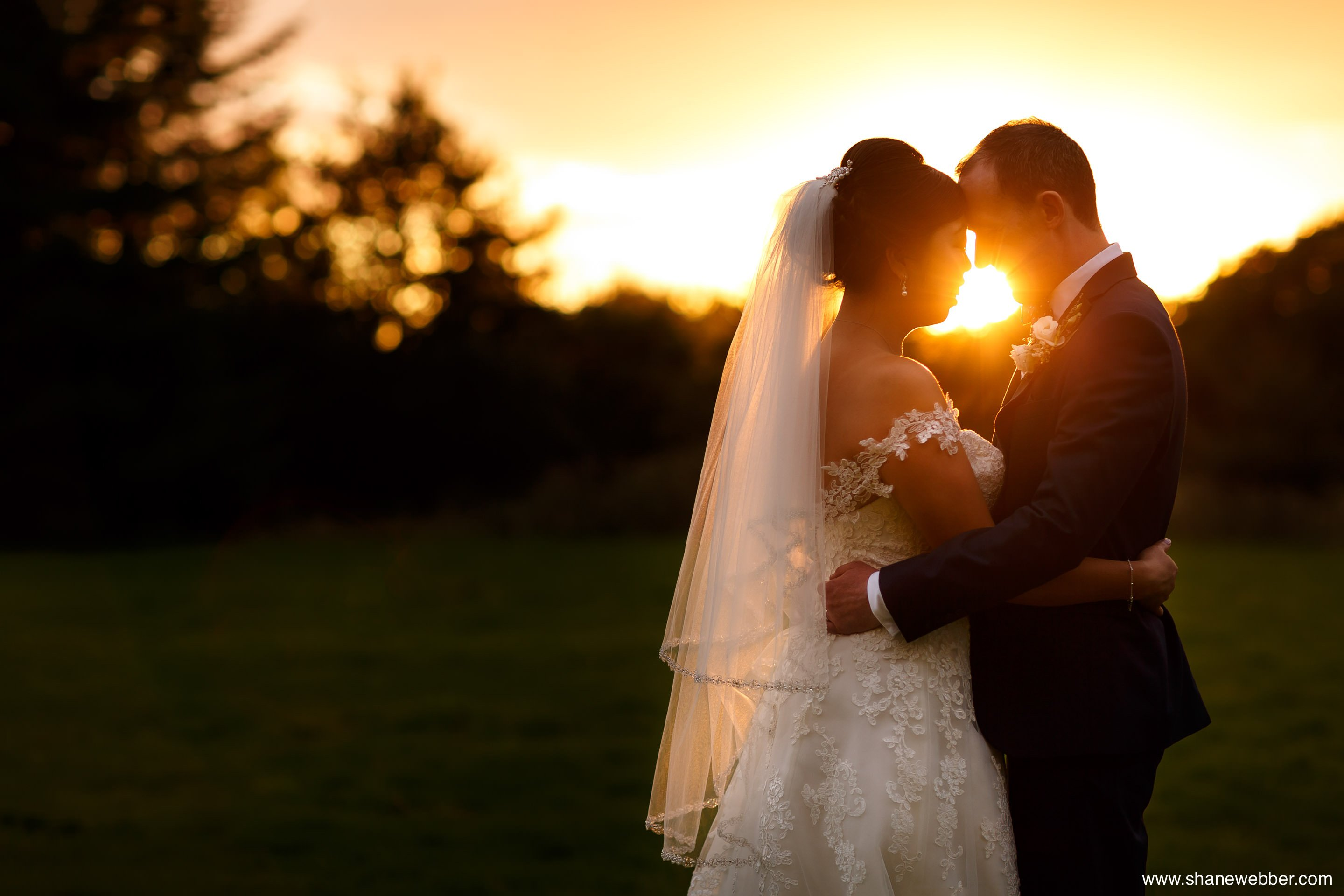 Couples wedding portraits at Oak Tree Of Peover