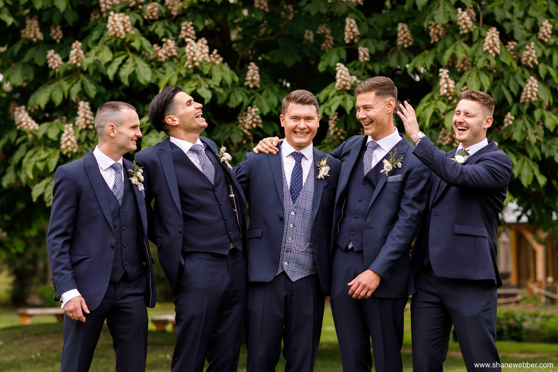 Wedding group photo at The Oak Tree