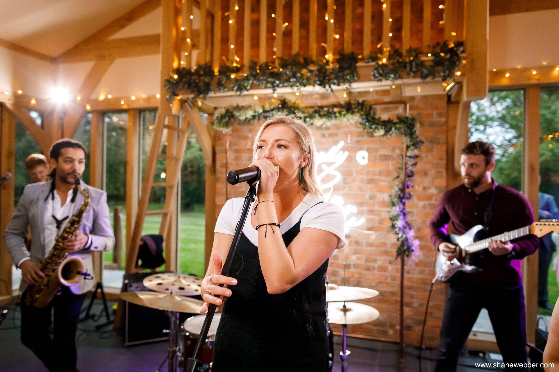 Wedding band playing at Oak Tree Of Peover