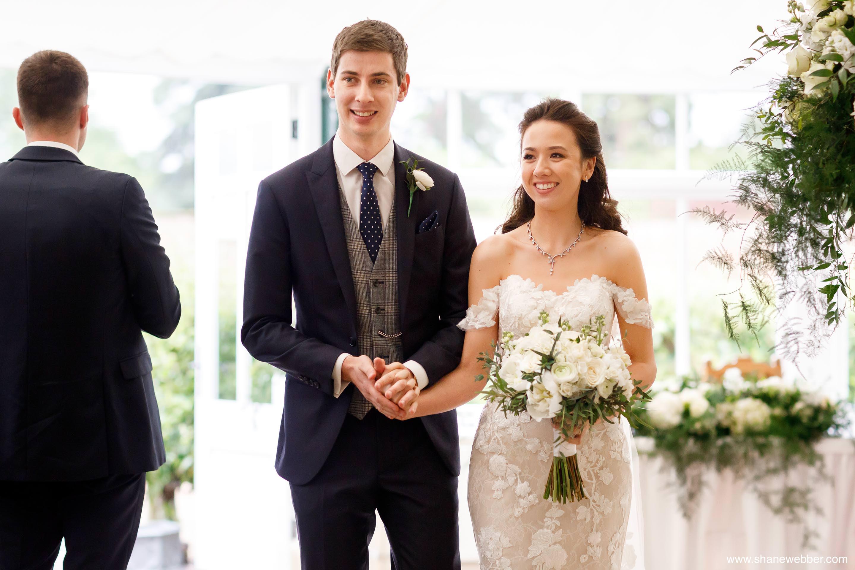 Luxury Combermere Abbey wedding ceremony