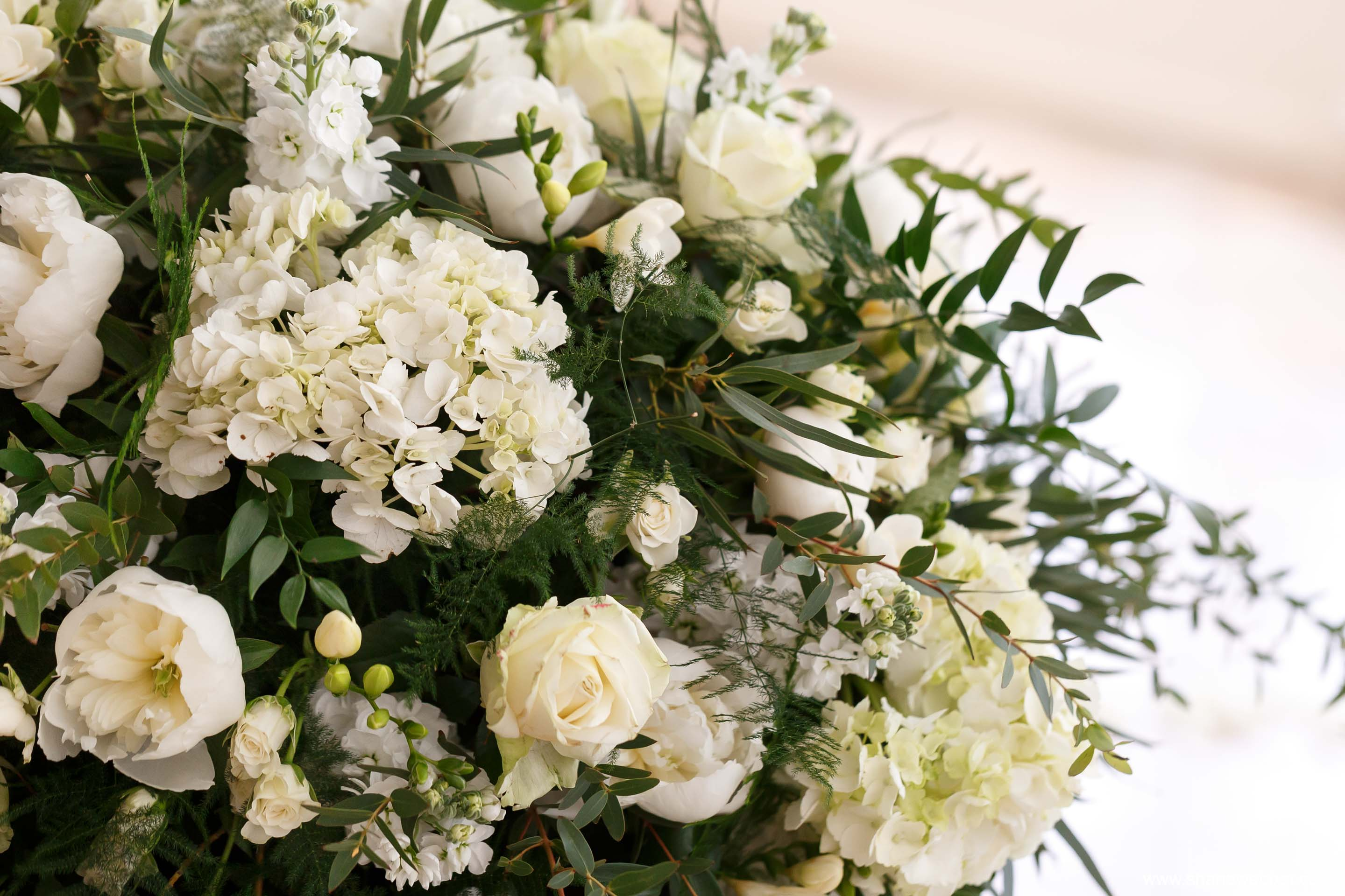 Verdure wedding flowers at Combermere Abbey