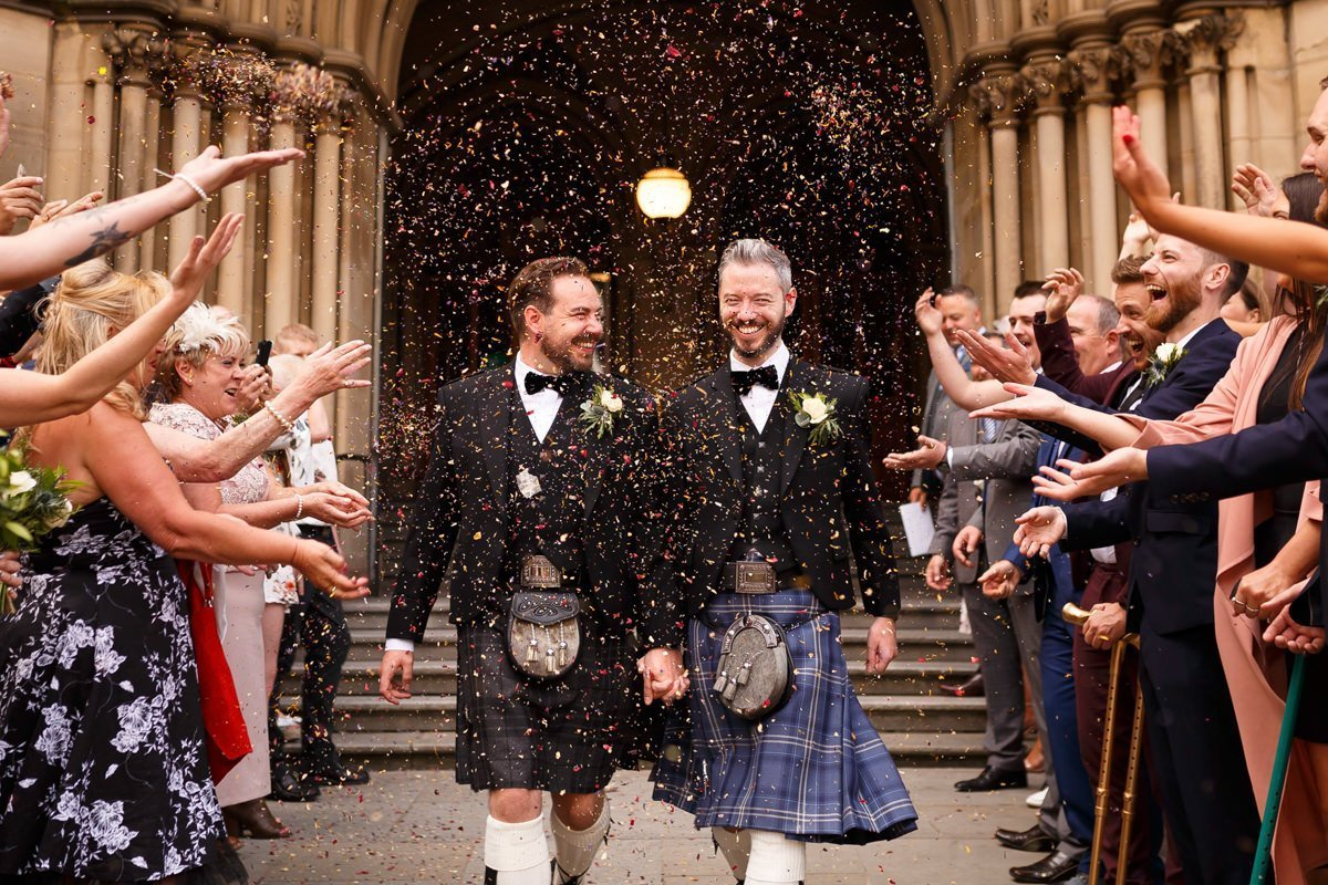 Gay wedding photographer manchester