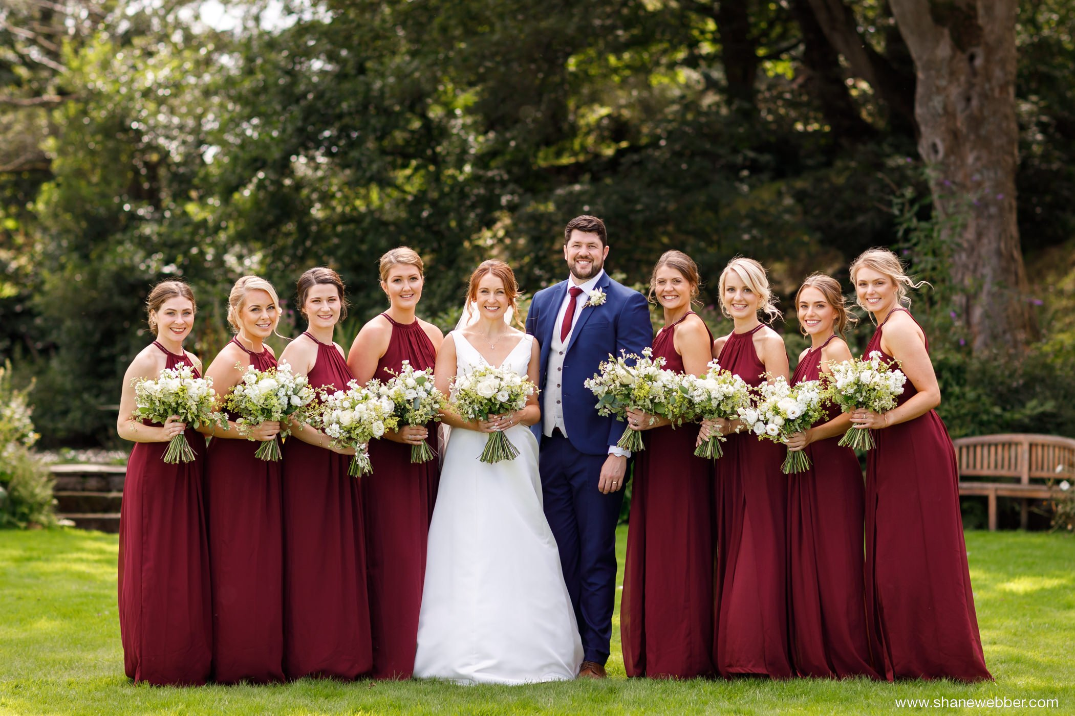 Adlington Hall wedding bridal party