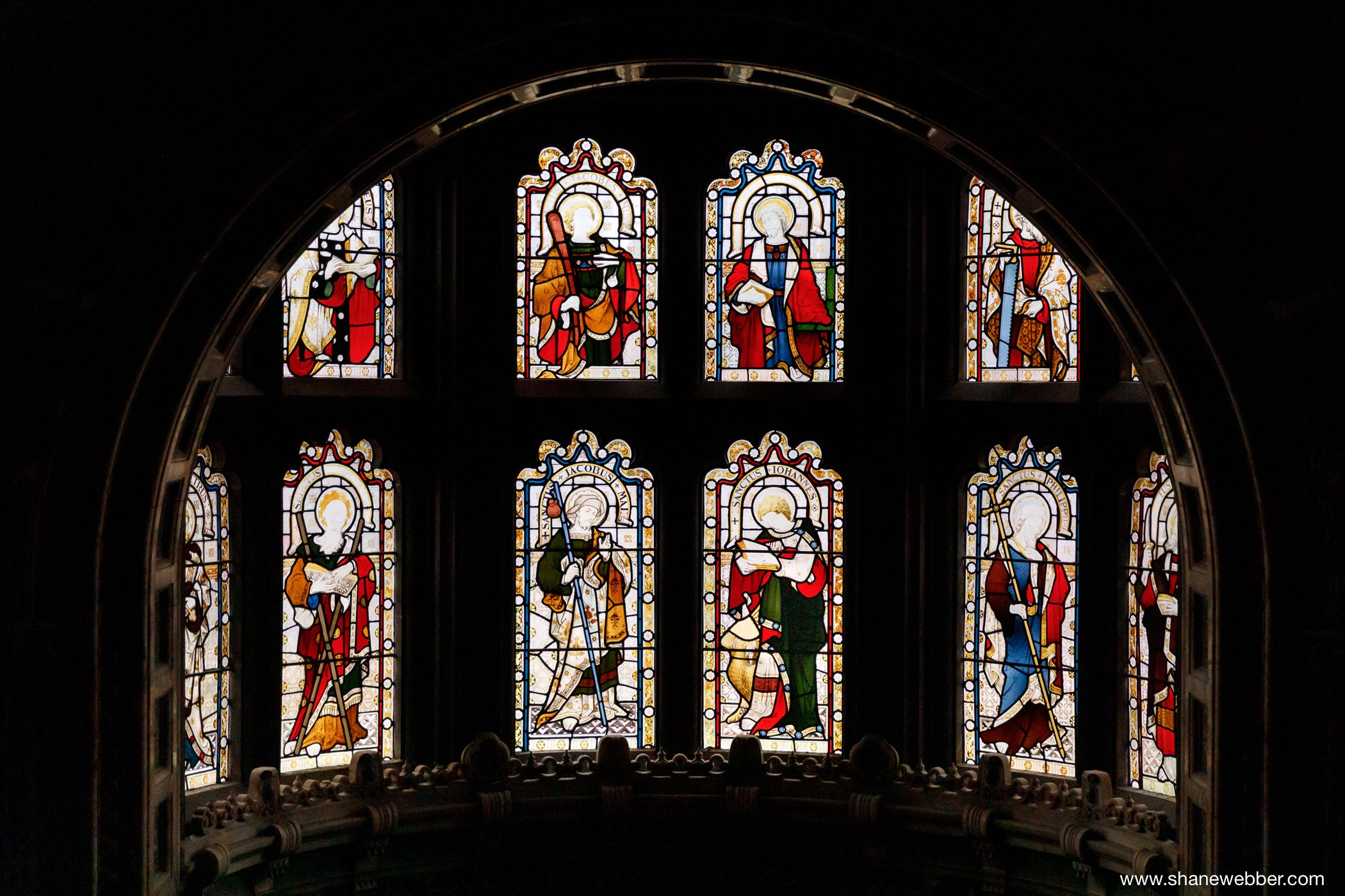 stained glass window Crewe Hall