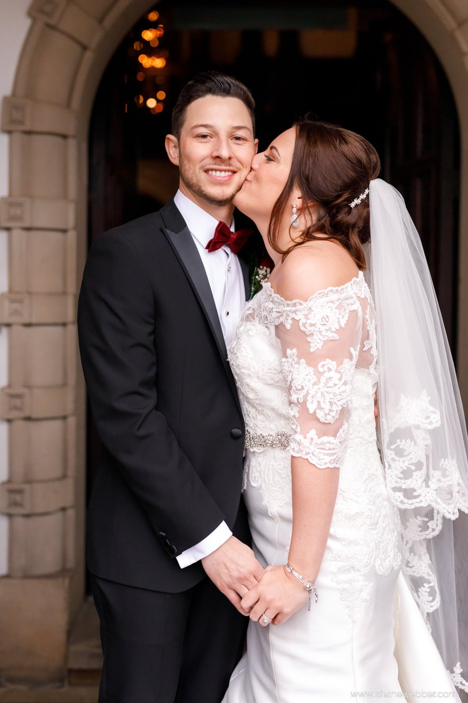 bride and groom Crewe Hall