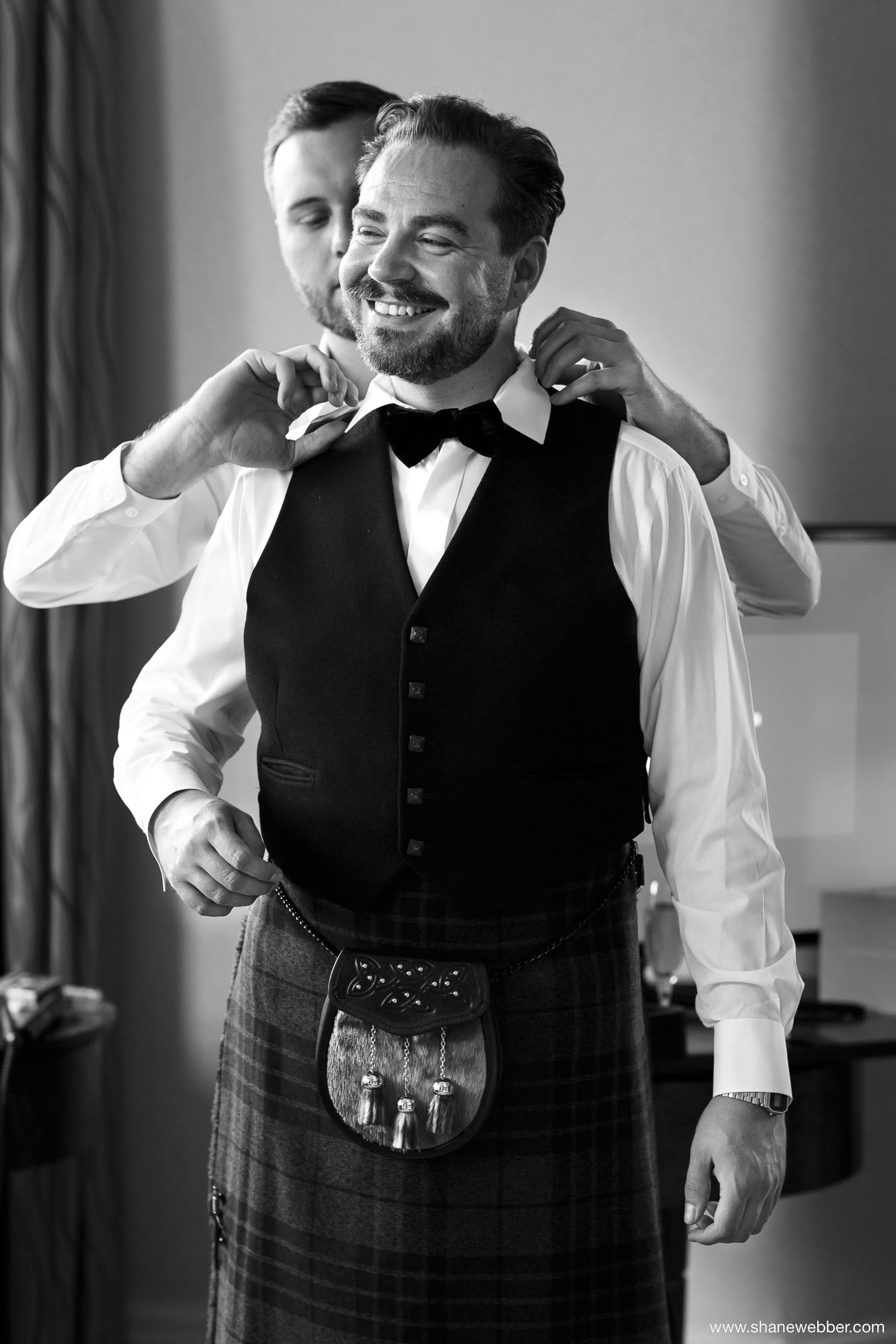 groom preparation photo
