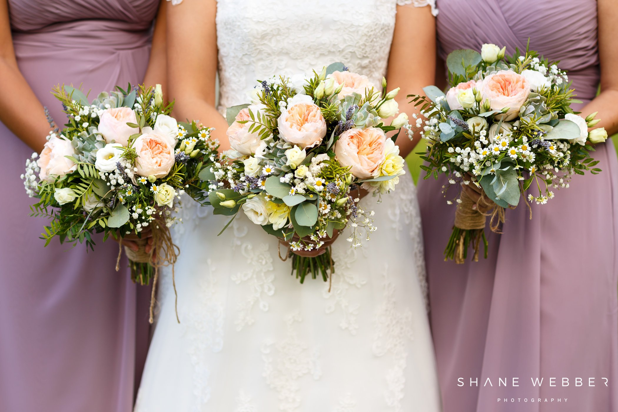 pink peony wedding bouquets