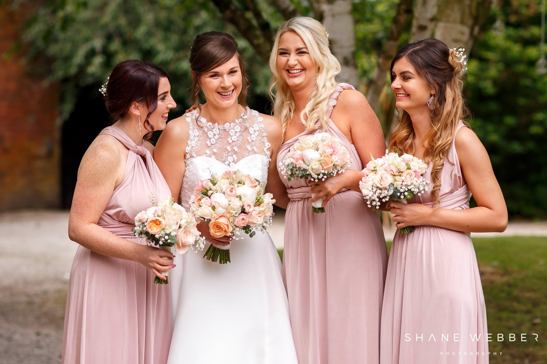 Bridesmaid photos at Bartle Hall