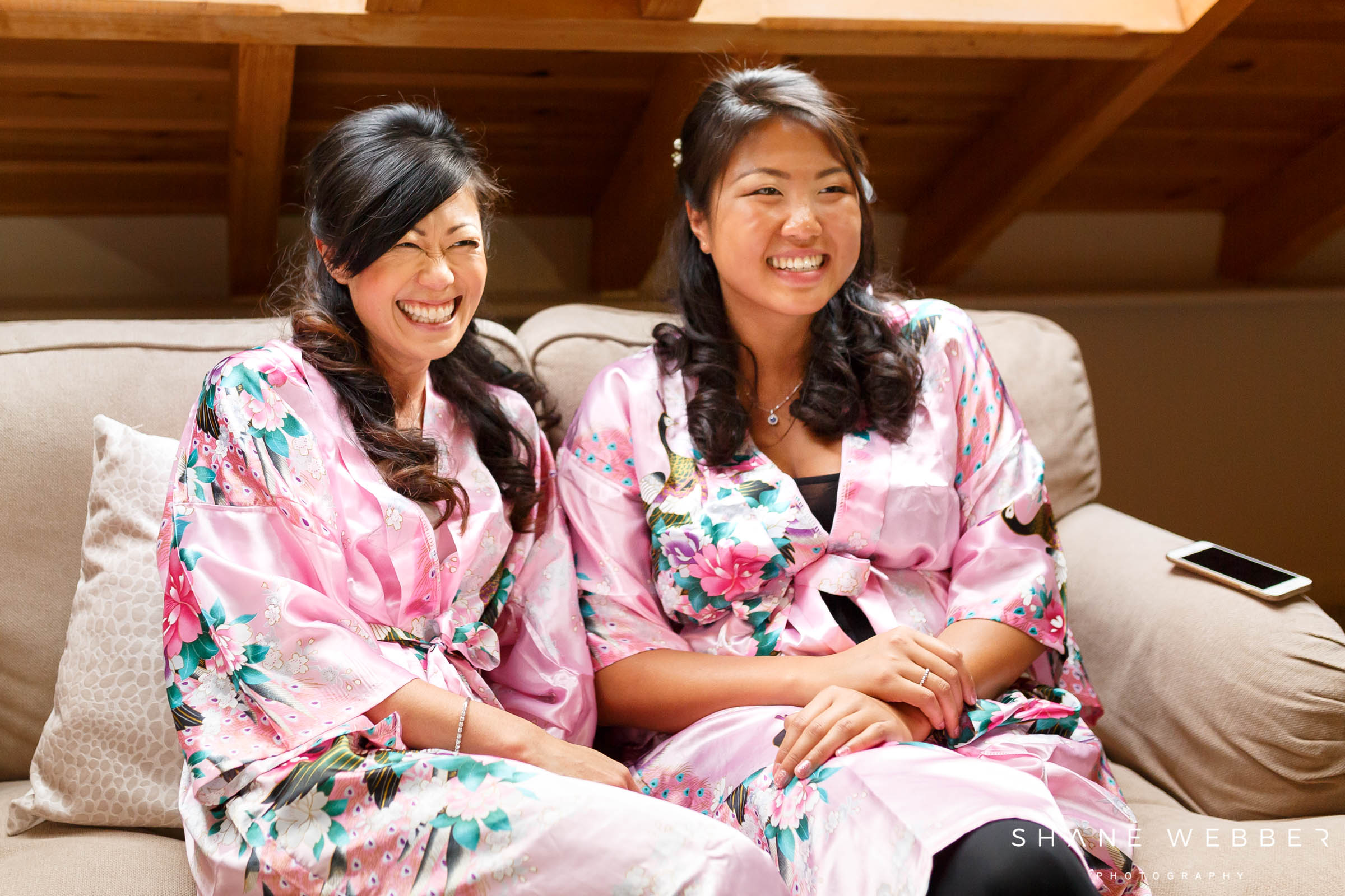 matching bridesmaids dressing gowns