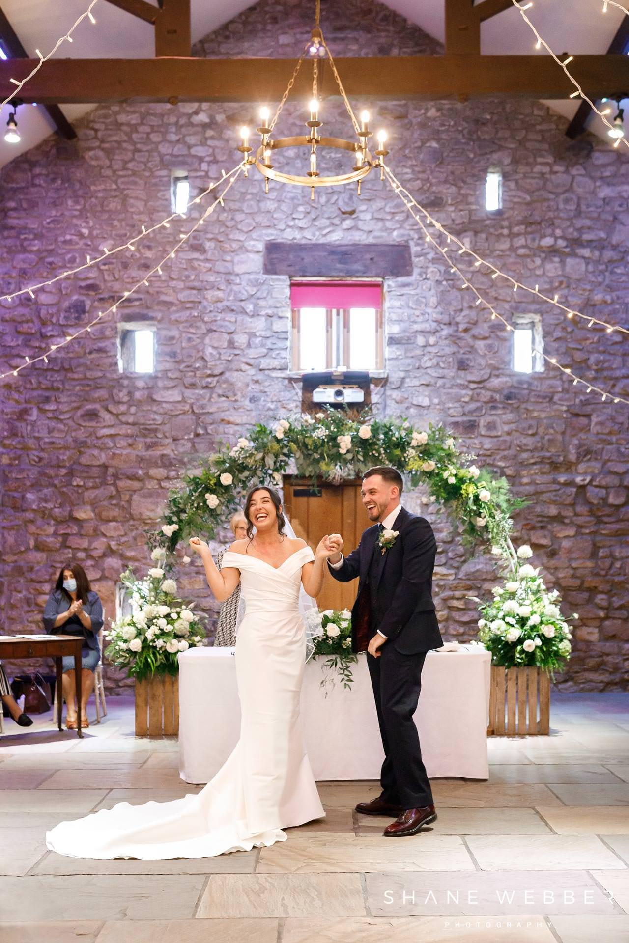 Browsholme hall wedding photos