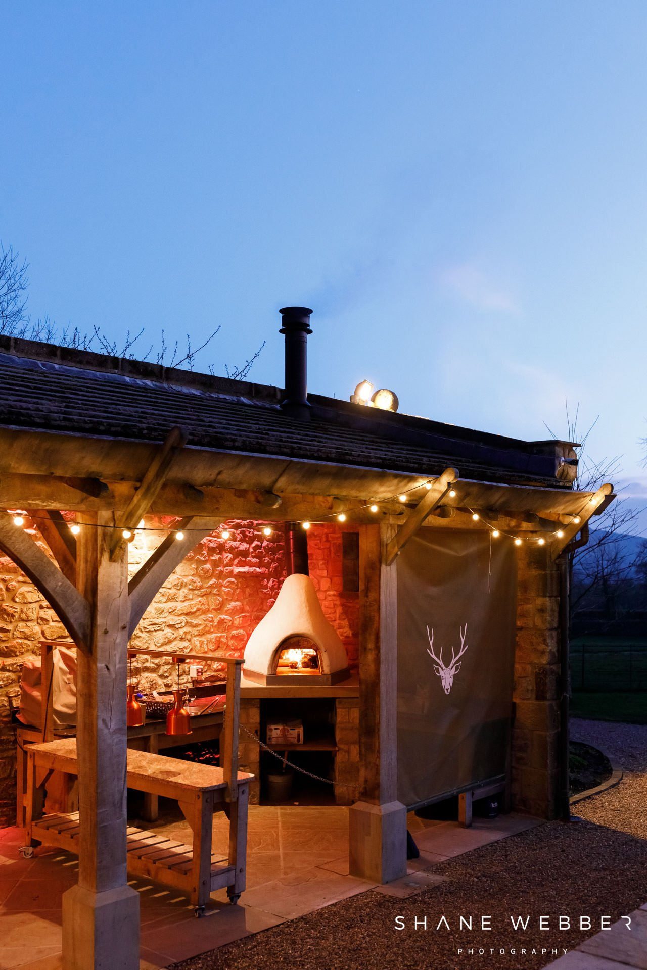 Pizza oven at Browsholme Hall