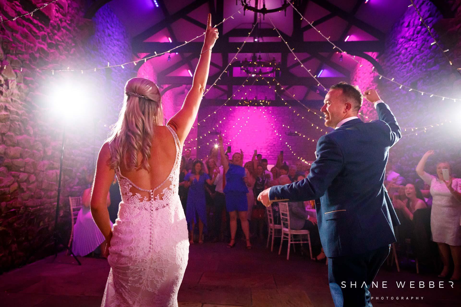Browsholme hall wedding first dance