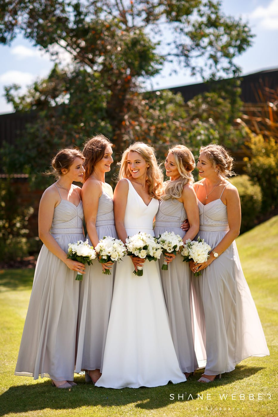 bridesmaids wedding photo