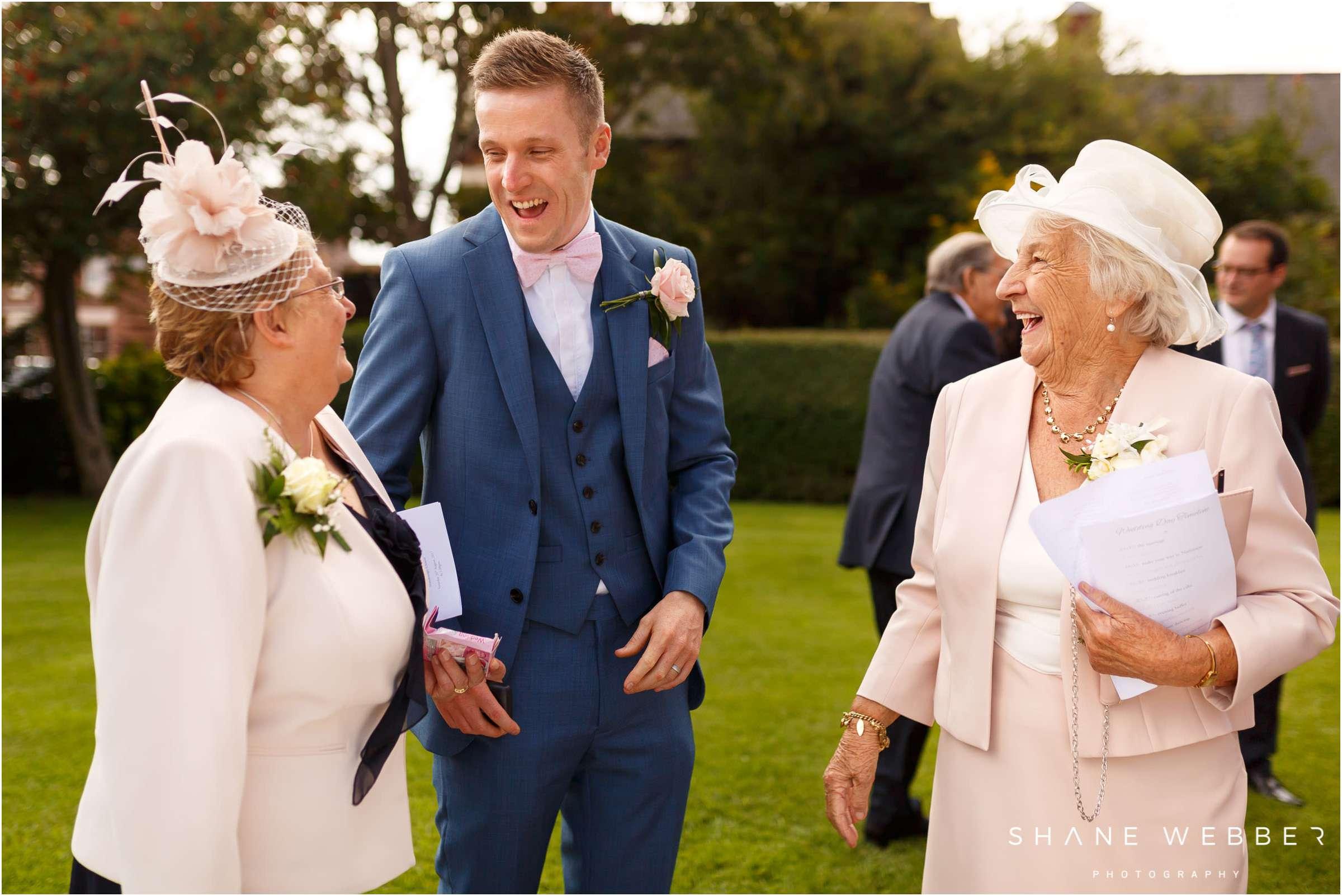groom at wedding
