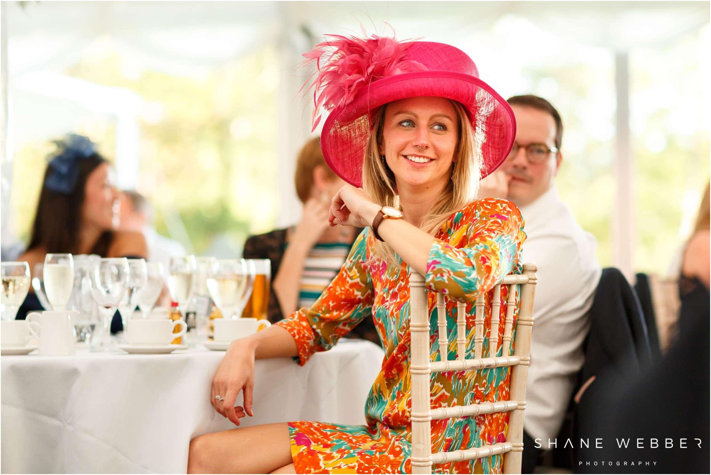 pink wedding hat