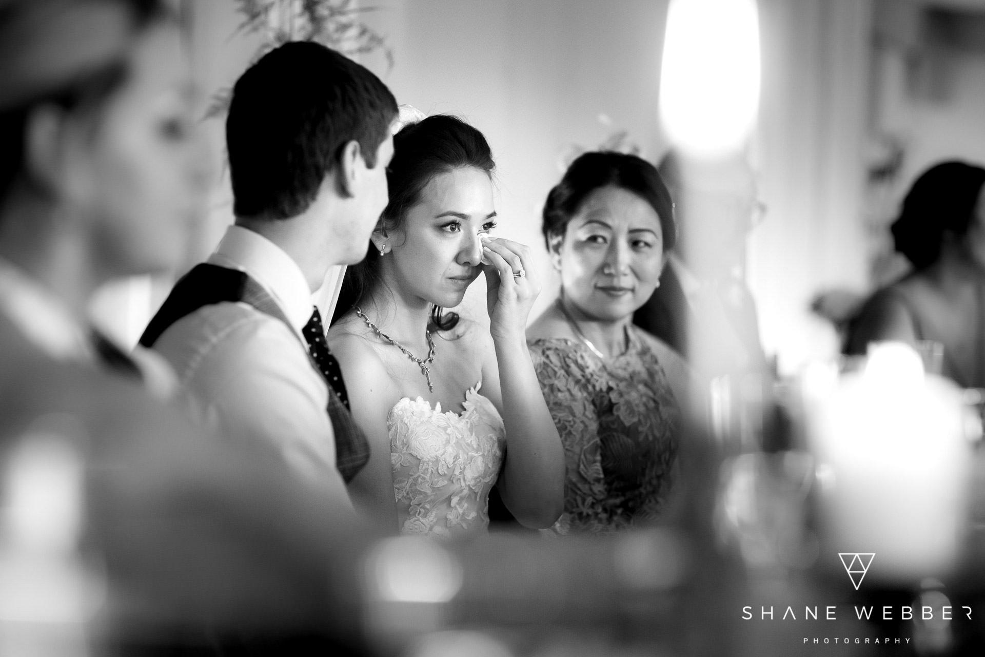 Wedding day black and white photo
