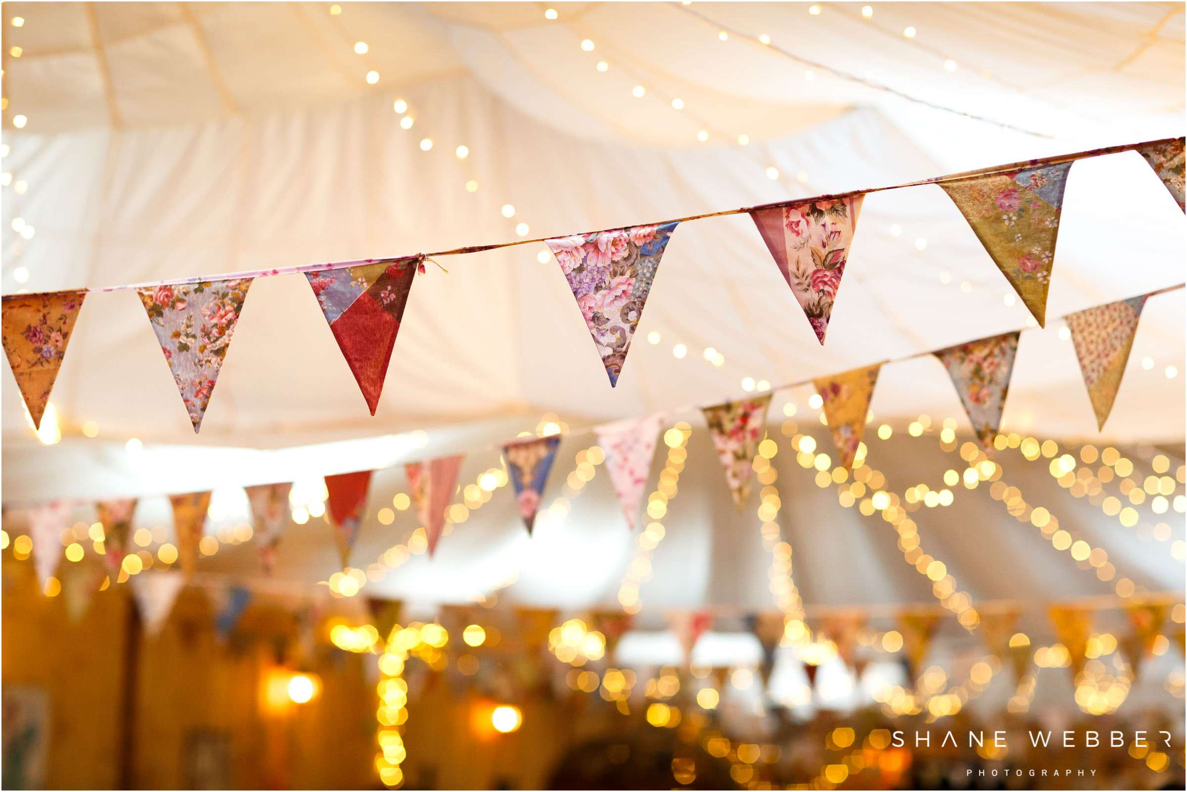 bunting wedding decoration