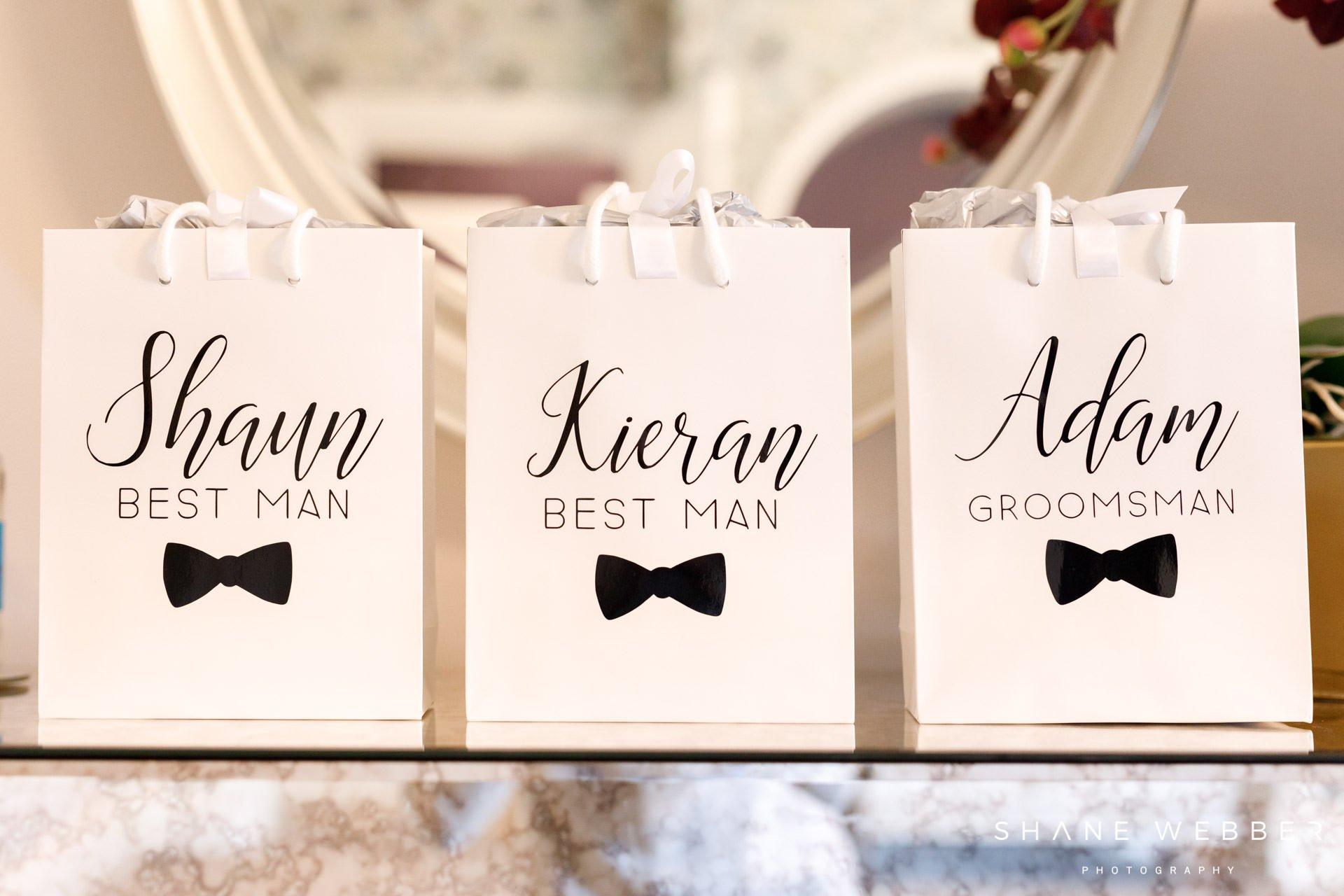 personalised groomsmen gift bags